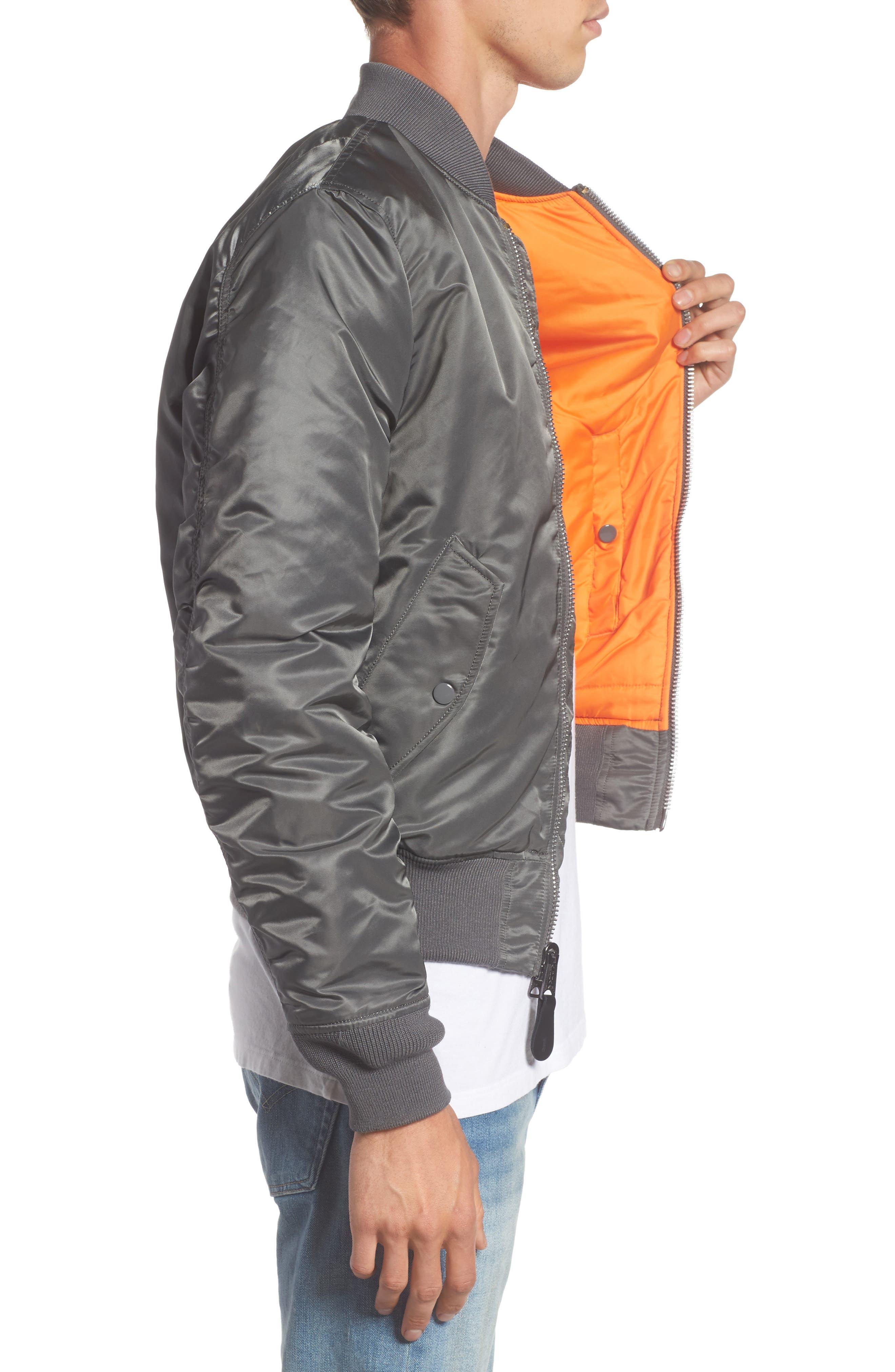 'MA-1' Slim Fit Bomber Jacket,                             Alternate thumbnail 27, color,