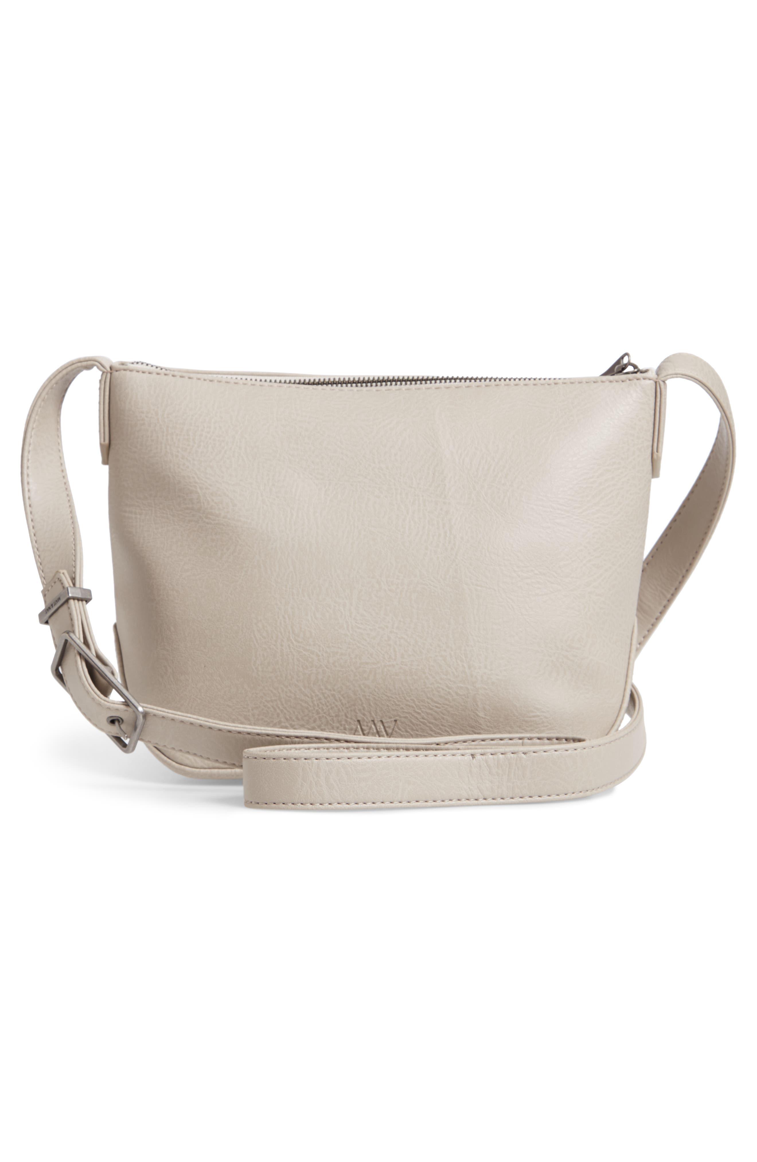 Large Sam Faux Leather Crossbody Bag,                             Alternate thumbnail 3, color,                             050