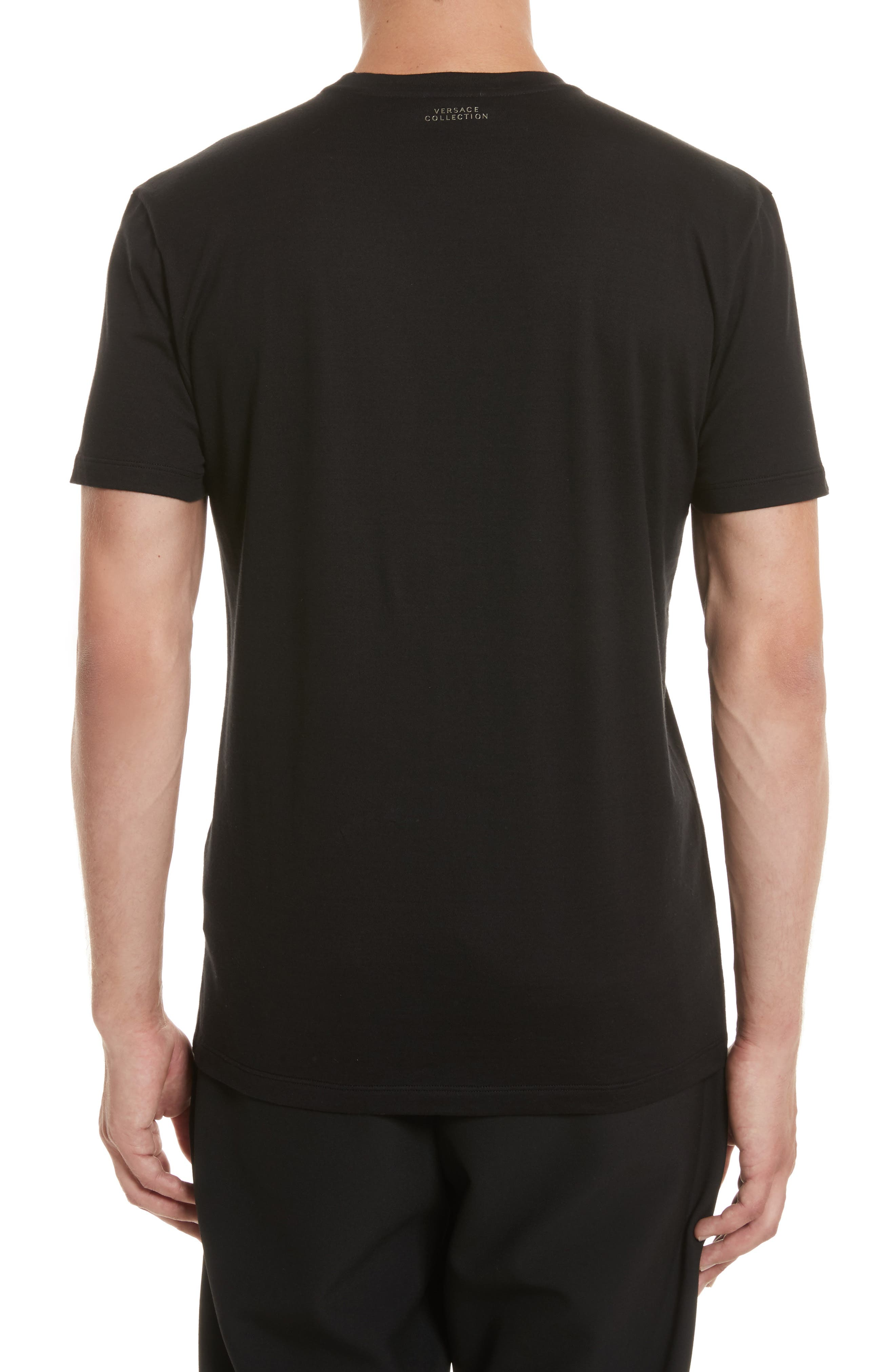 Baroque Foil Print T-Shirt,                             Alternate thumbnail 2, color,                             001