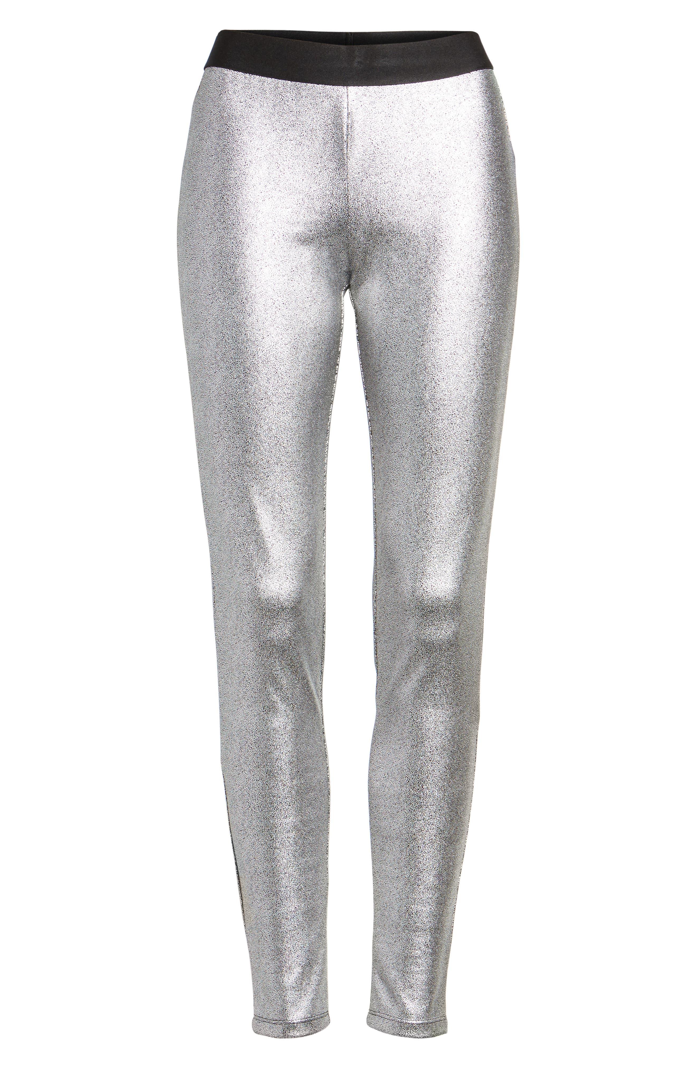 Metallic Leggings,                             Alternate thumbnail 6, color,                             040