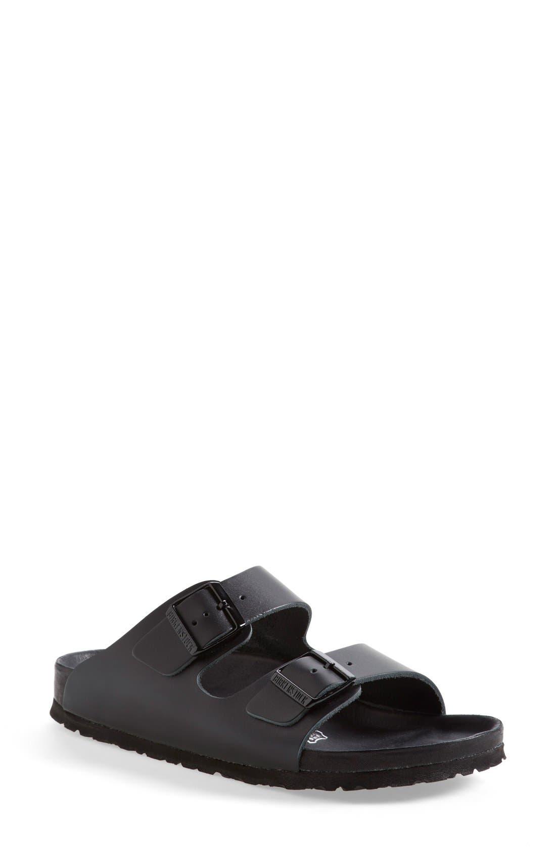 'Monterey' Leather Sandal,                             Main thumbnail 2, color,