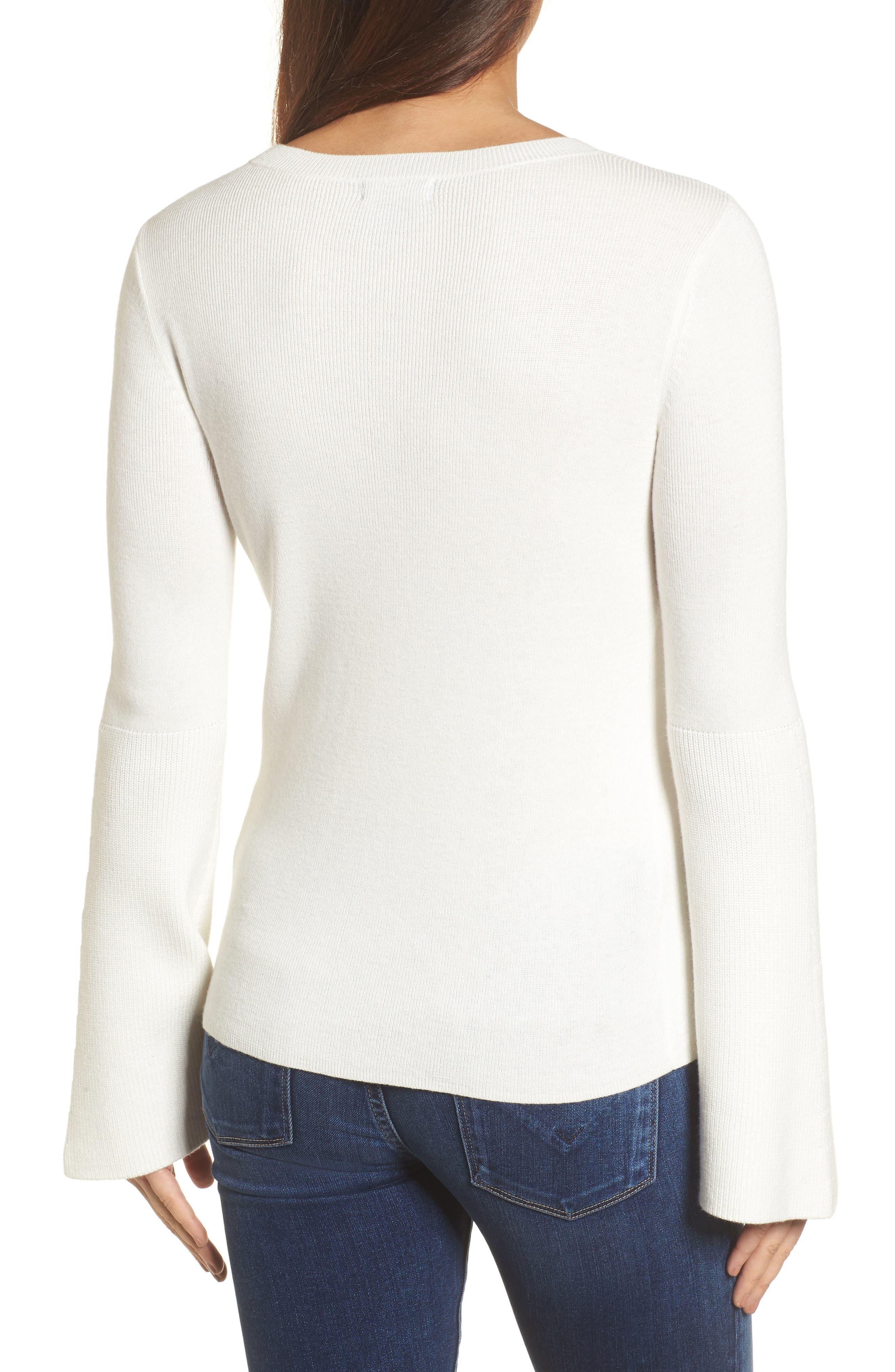 Bell Sleeve Rib Sweater,                             Alternate thumbnail 7, color,