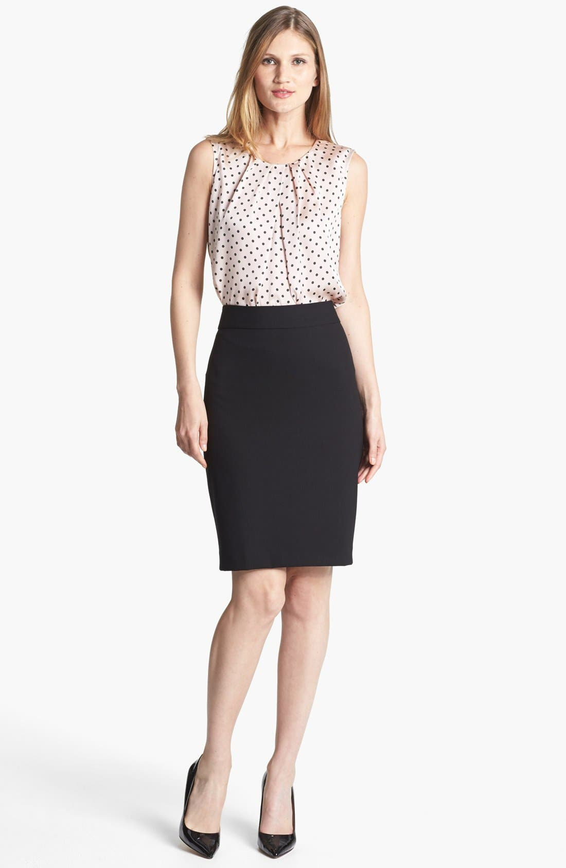 'Lucy - Seasonless Stretch' Pencil Skirt,                             Alternate thumbnail 6, color,                             001