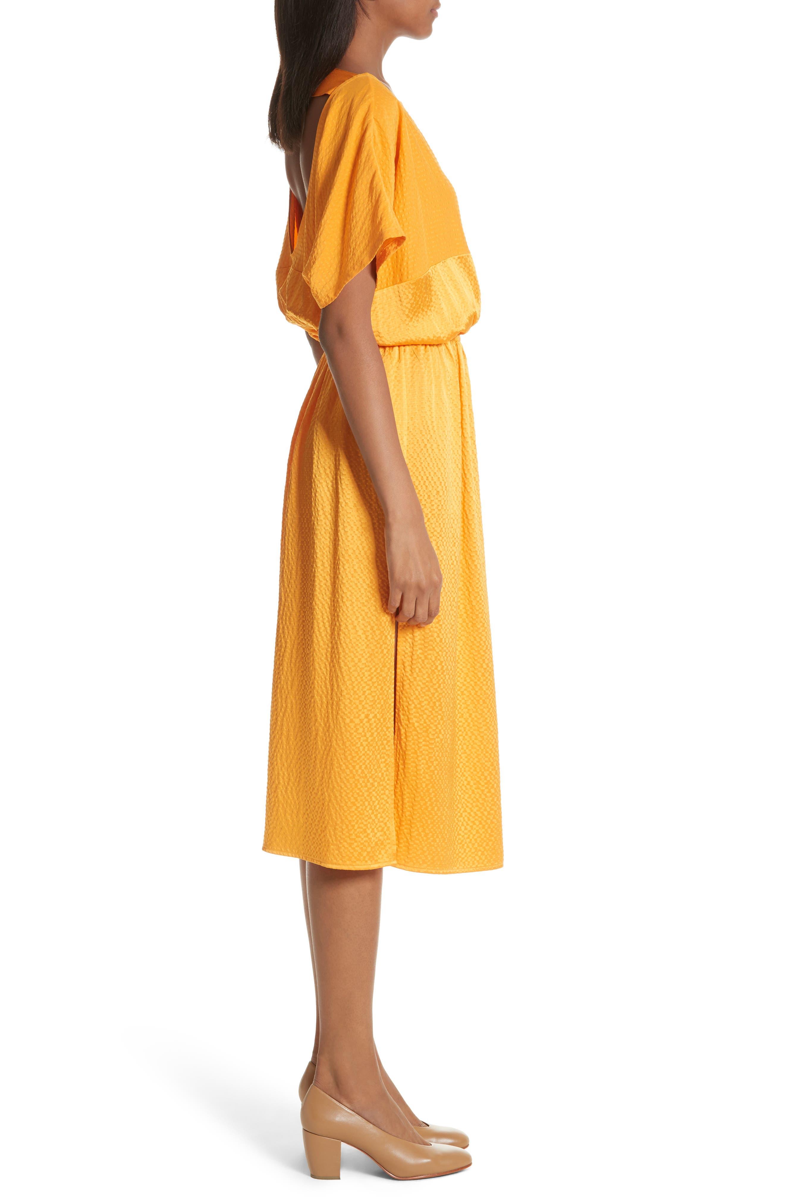 Tonic Silk Midi Dress,                             Alternate thumbnail 3, color,                             850
