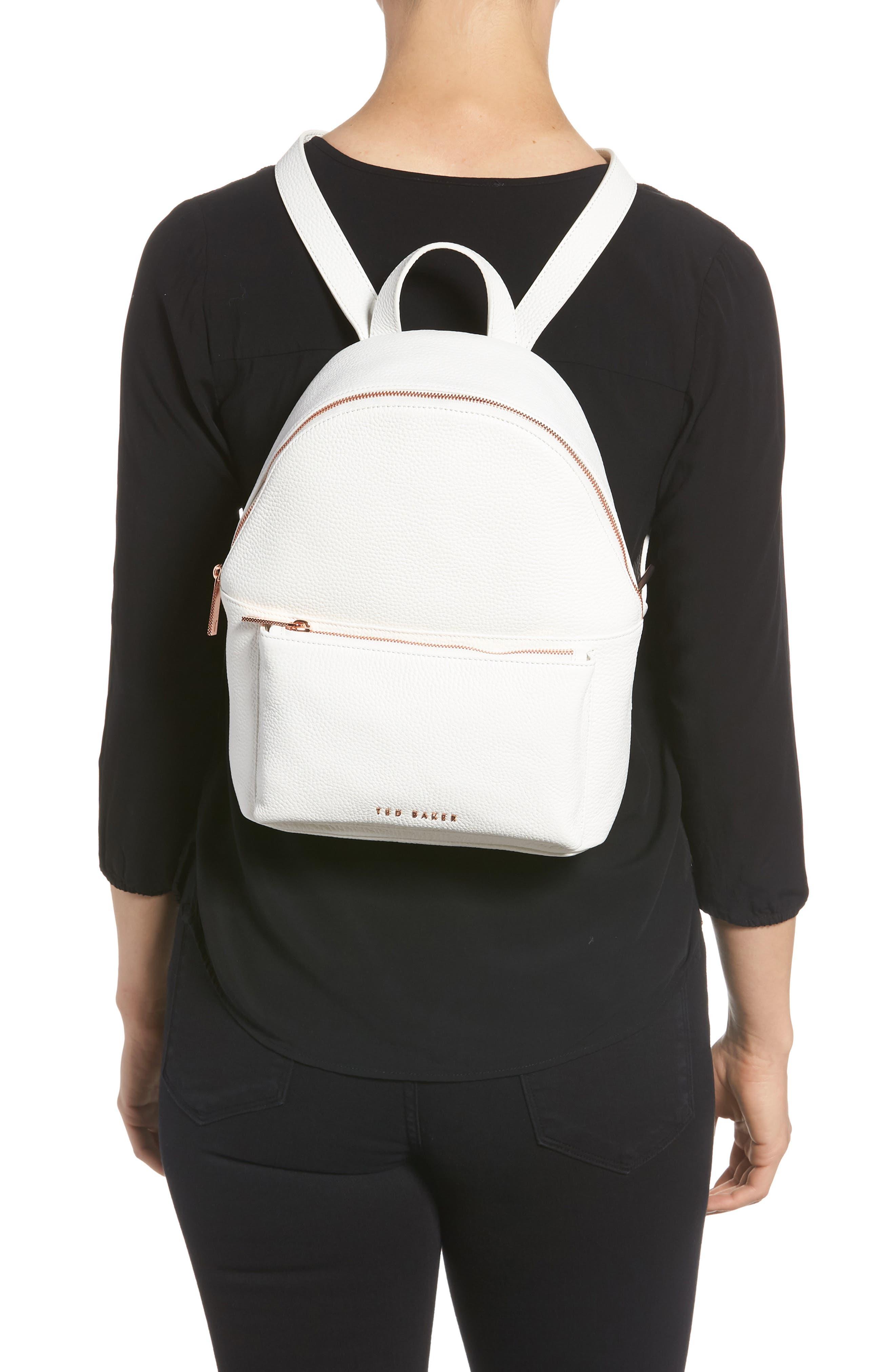 Pearen Leather Backpack,                             Alternate thumbnail 8, color,