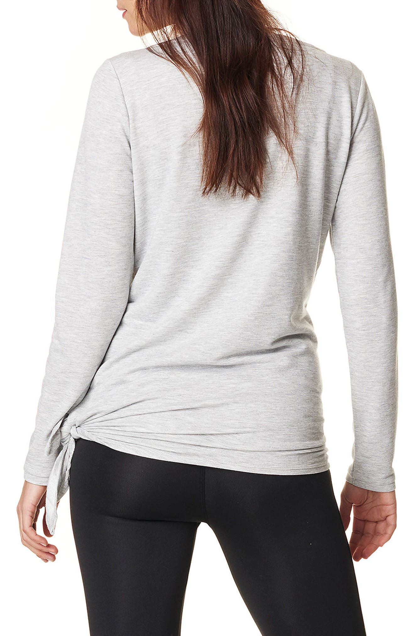 Heather Athletic Maternity Top,                             Alternate thumbnail 2, color,                             GREY MELANGE