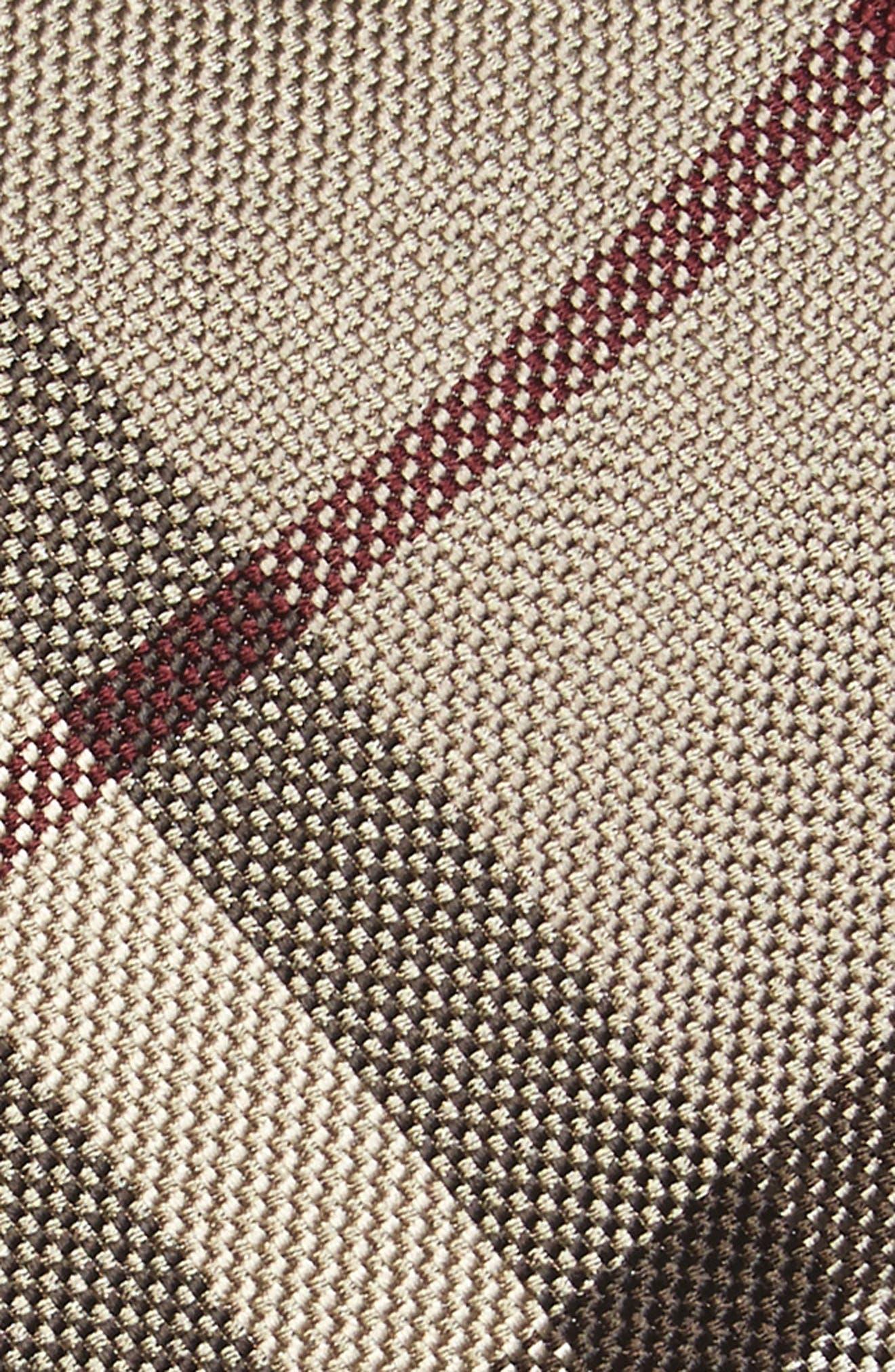 Clinton Check Silk Tie,                             Alternate thumbnail 2, color,
