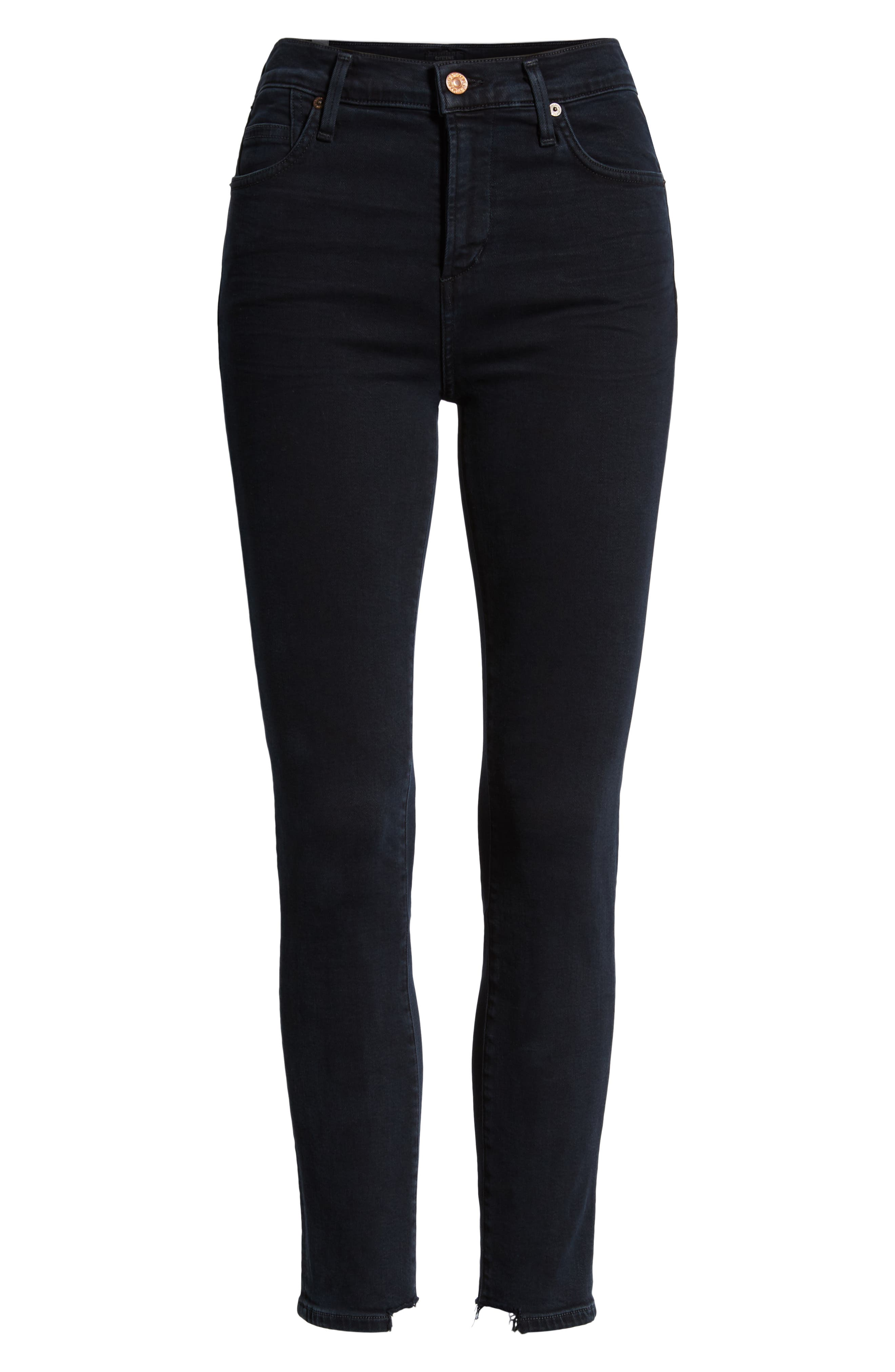 CITIZENS OF HUMANITY,                             Rocket High Waist Crop Skinny Jeans,                             Alternate thumbnail 7, color,                             BLUE PRINT