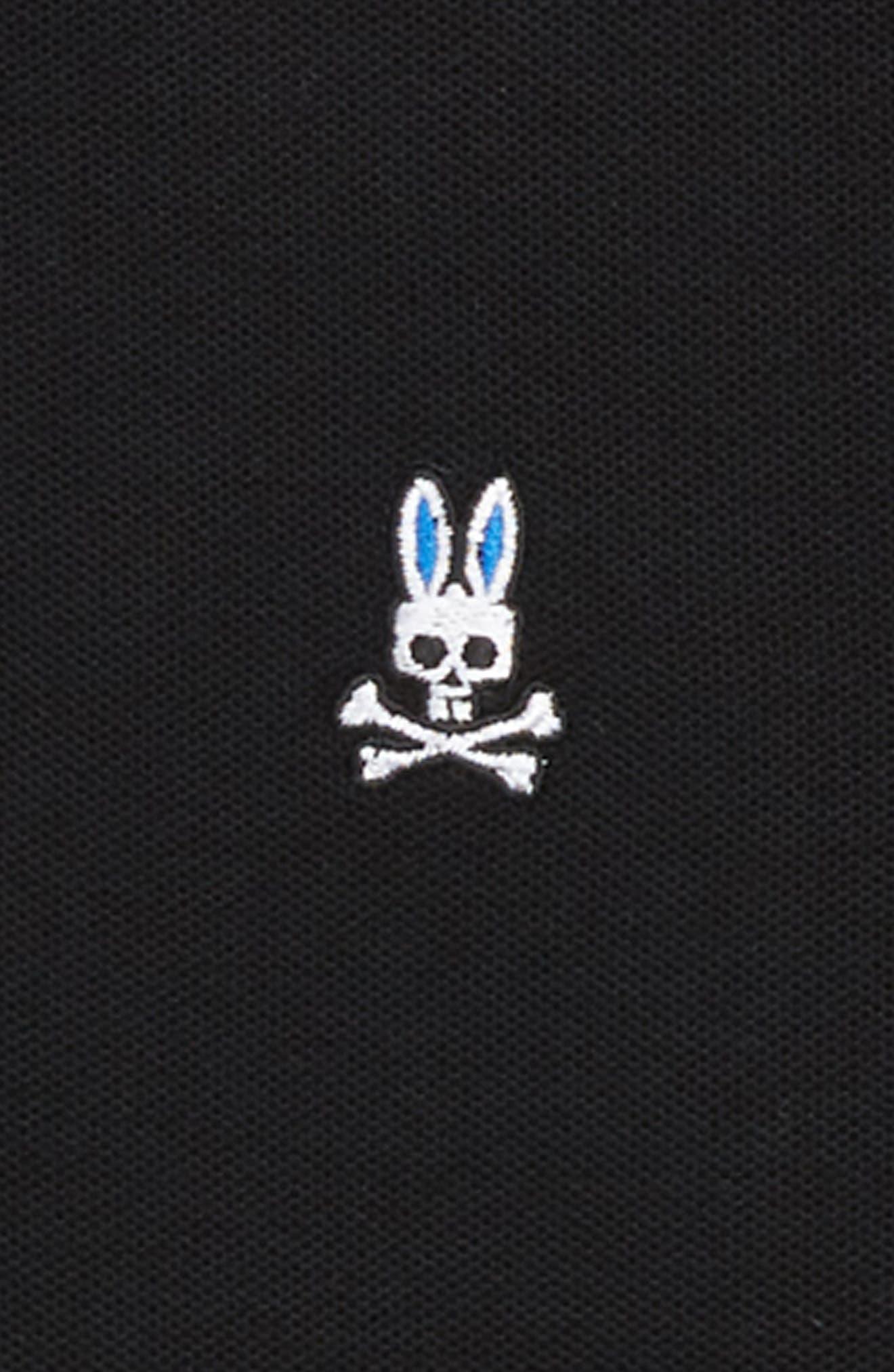Neon Bunny Polo,                             Alternate thumbnail 2, color,                             BLACK
