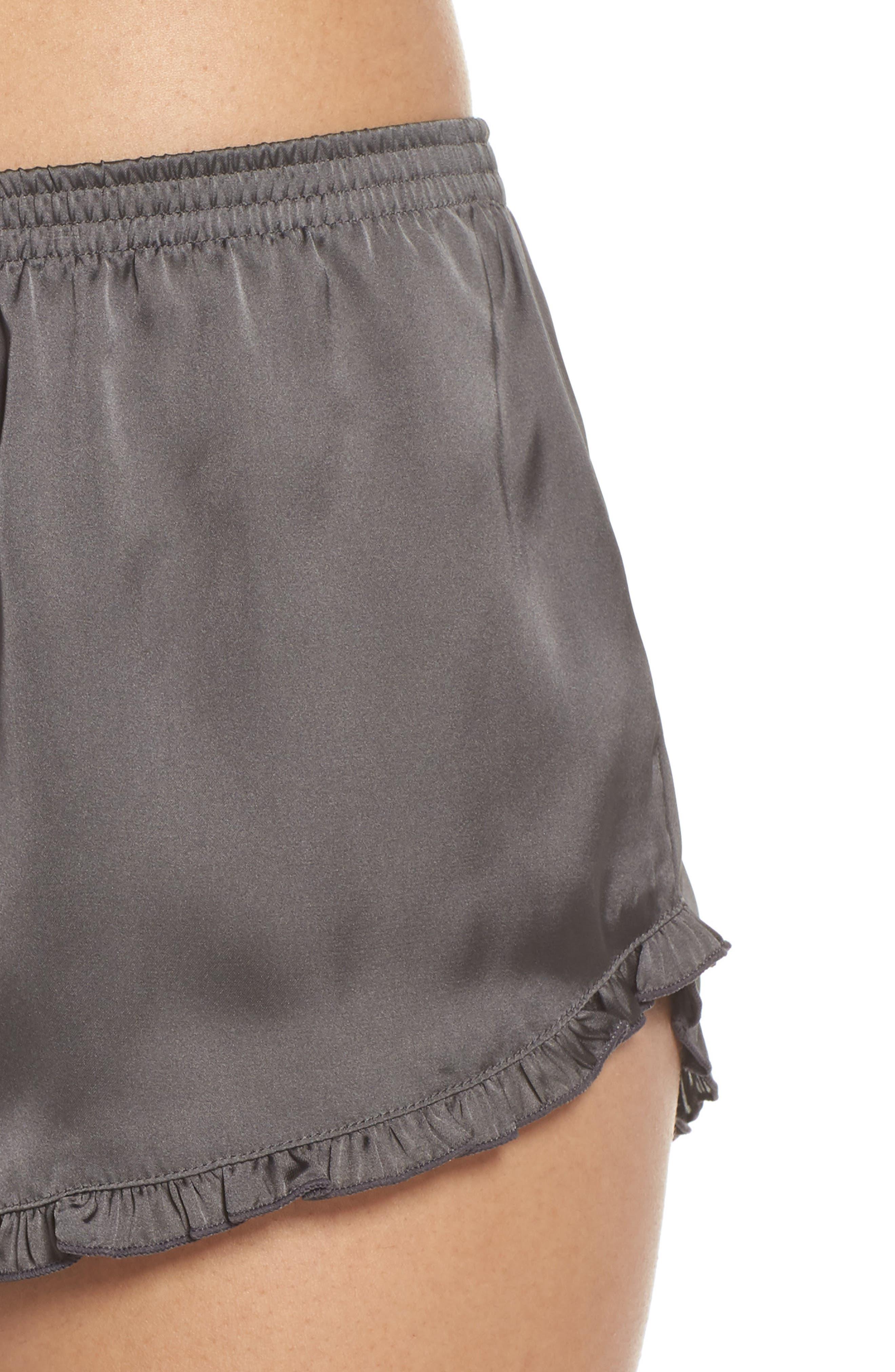 Satin Lounge Shorts,                             Alternate thumbnail 4, color,                             022