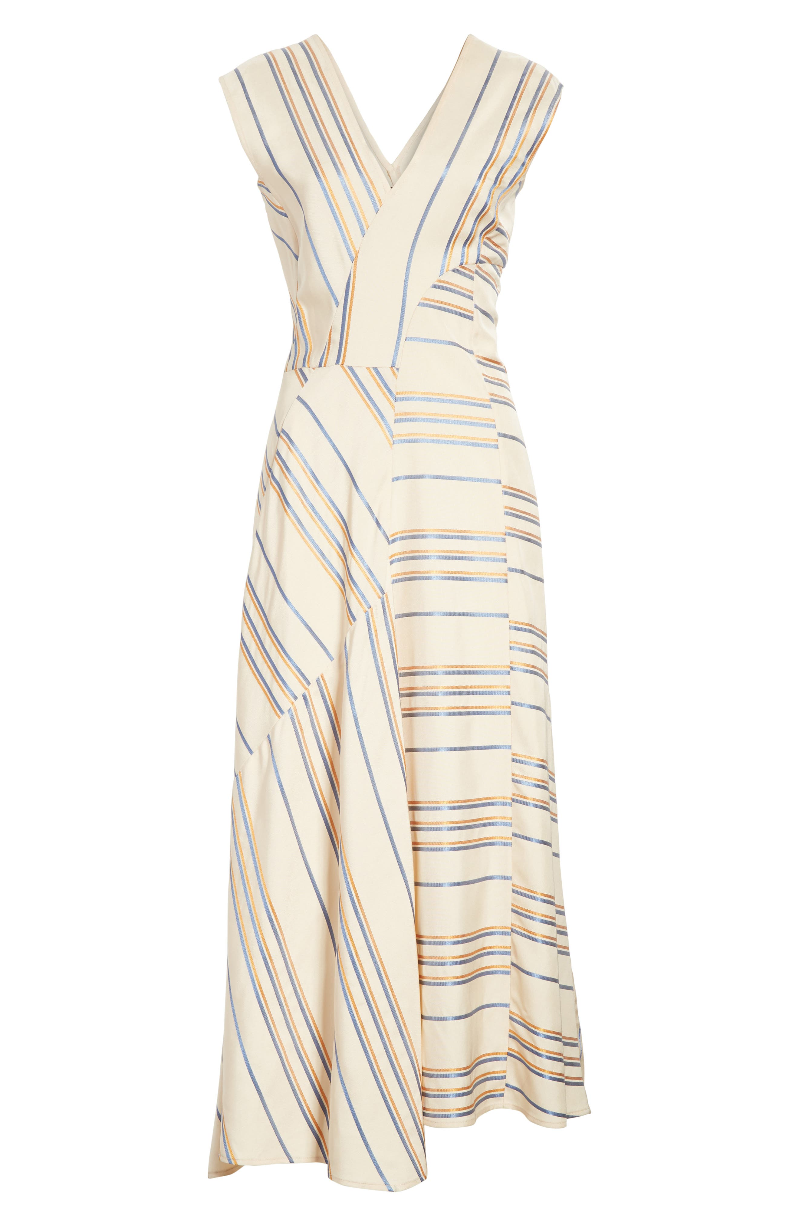 Stripe Midi Dress,                             Alternate thumbnail 6, color,                             901