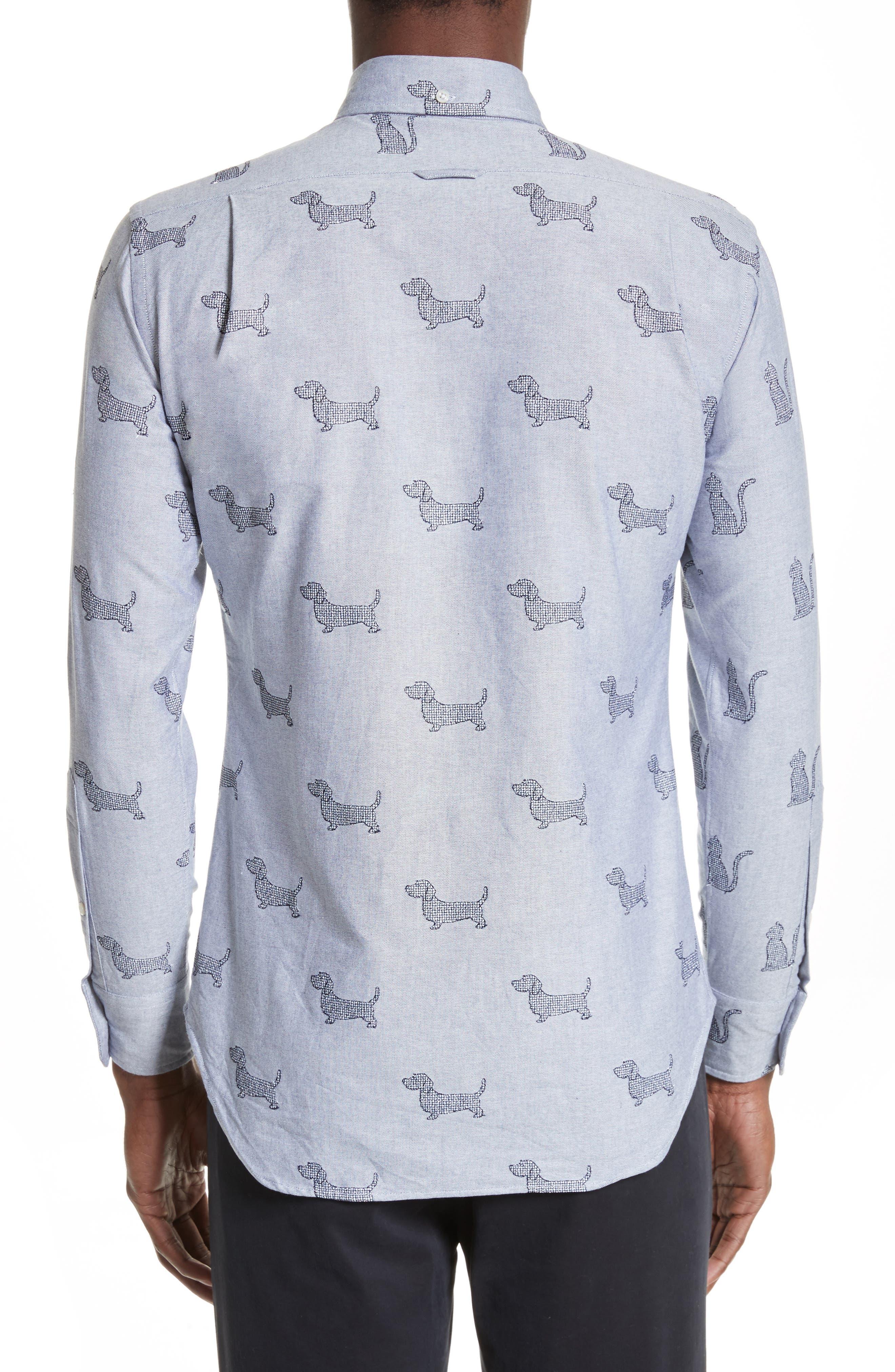 Daschund Kitty Print Shirt,                             Alternate thumbnail 2, color,                             415