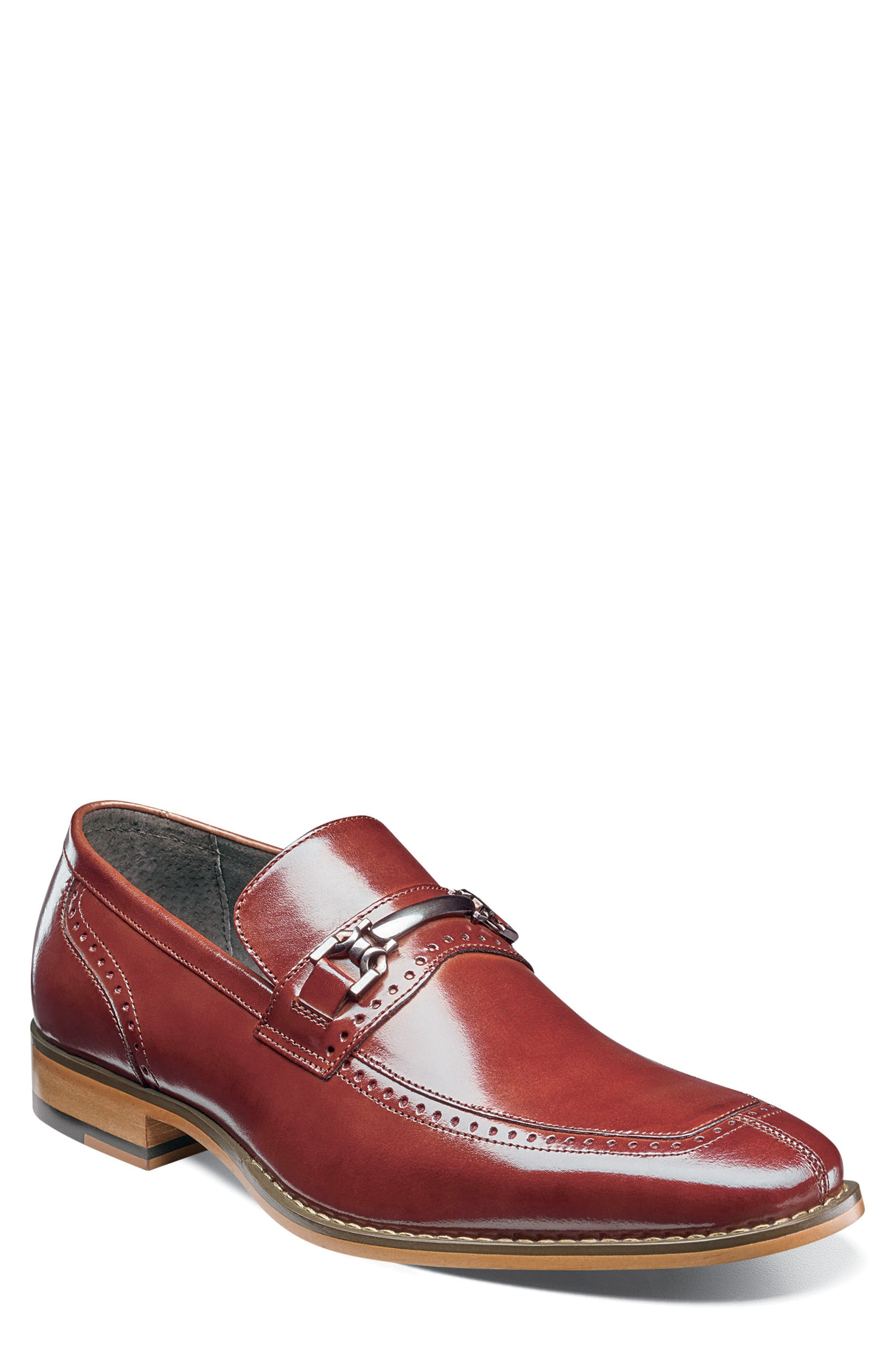 Tanner Brogued Bit Loafer,                             Main thumbnail 1, color,                             COGNAC LEATHER