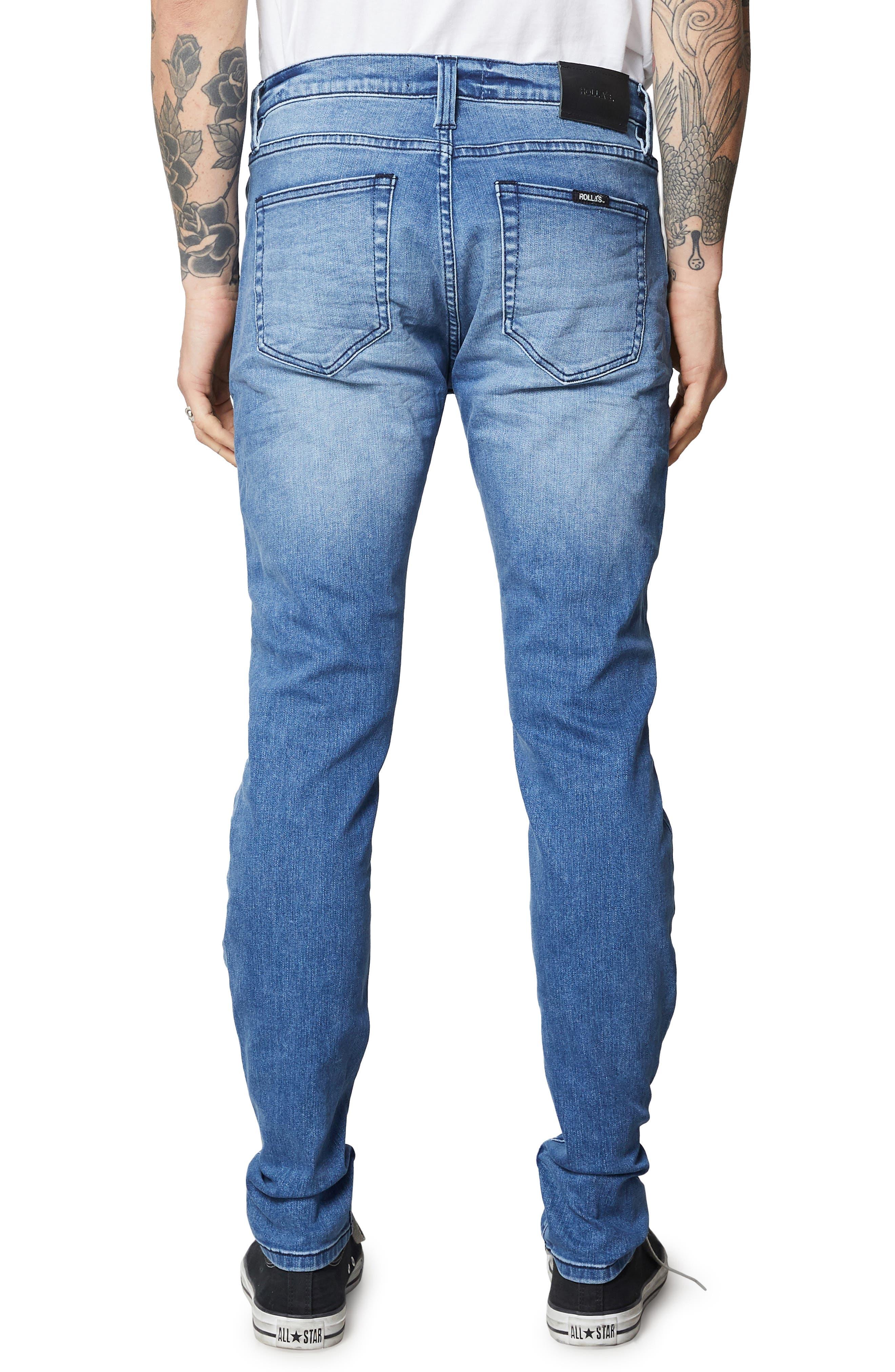 Stinger Skinny Fit Jeans,                             Alternate thumbnail 2, color,                             TRUE BLUE