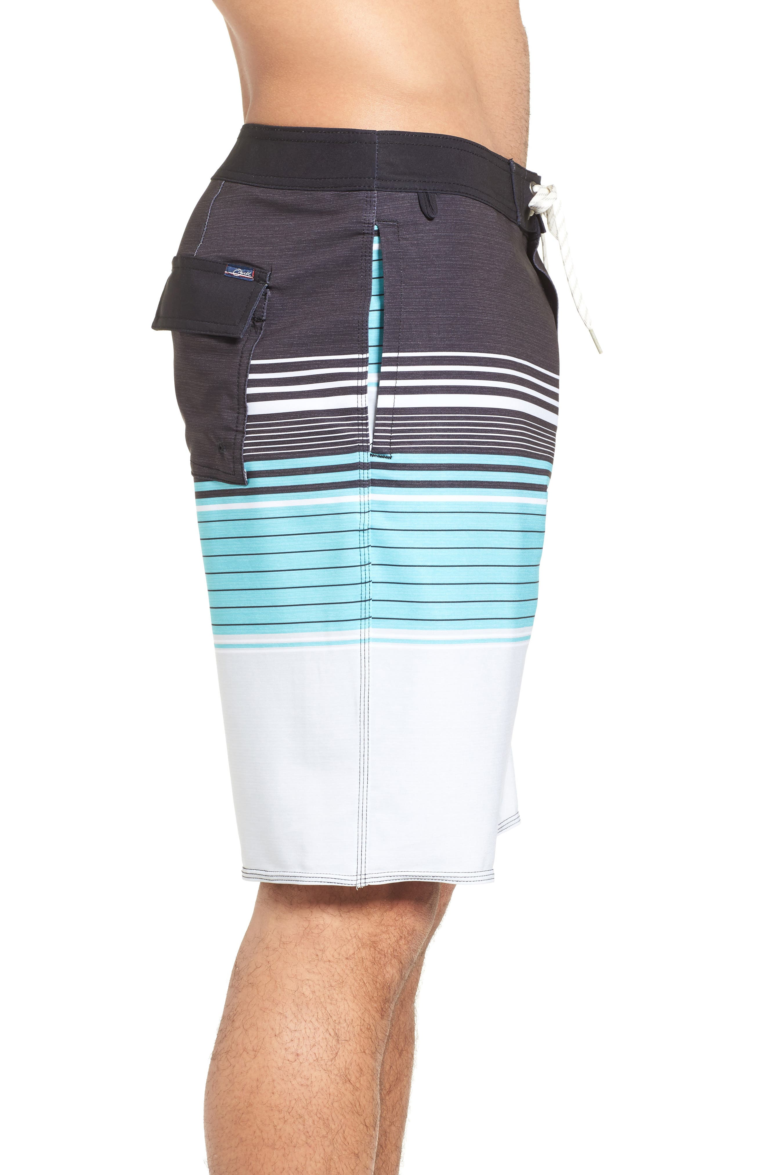 Frontiers Stretch Board Shorts,                             Alternate thumbnail 3, color,                             001