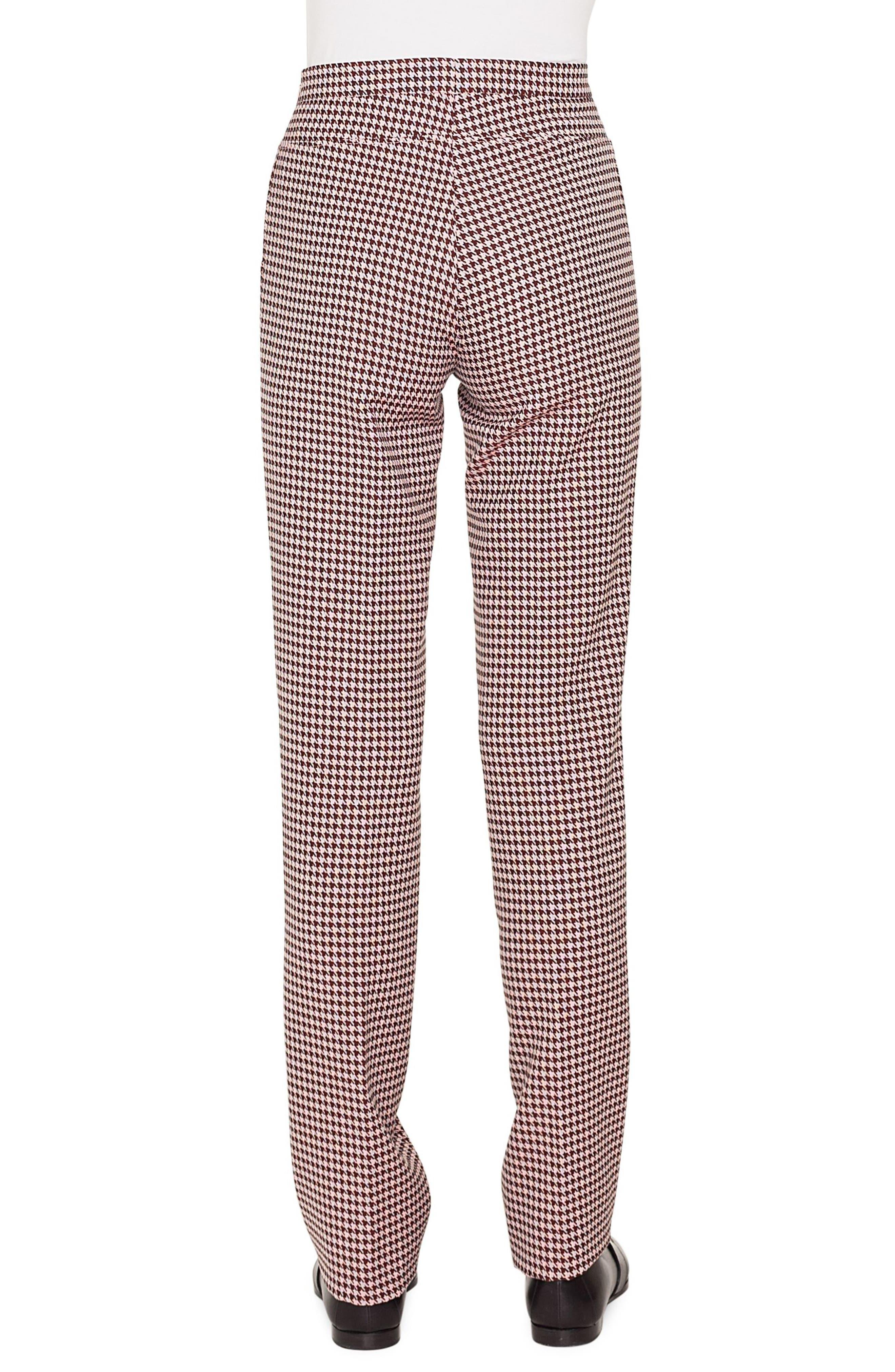AKRIS PUNTO,                             Francoise Houndstooth Jersey Pants,                             Alternate thumbnail 2, color,                             930