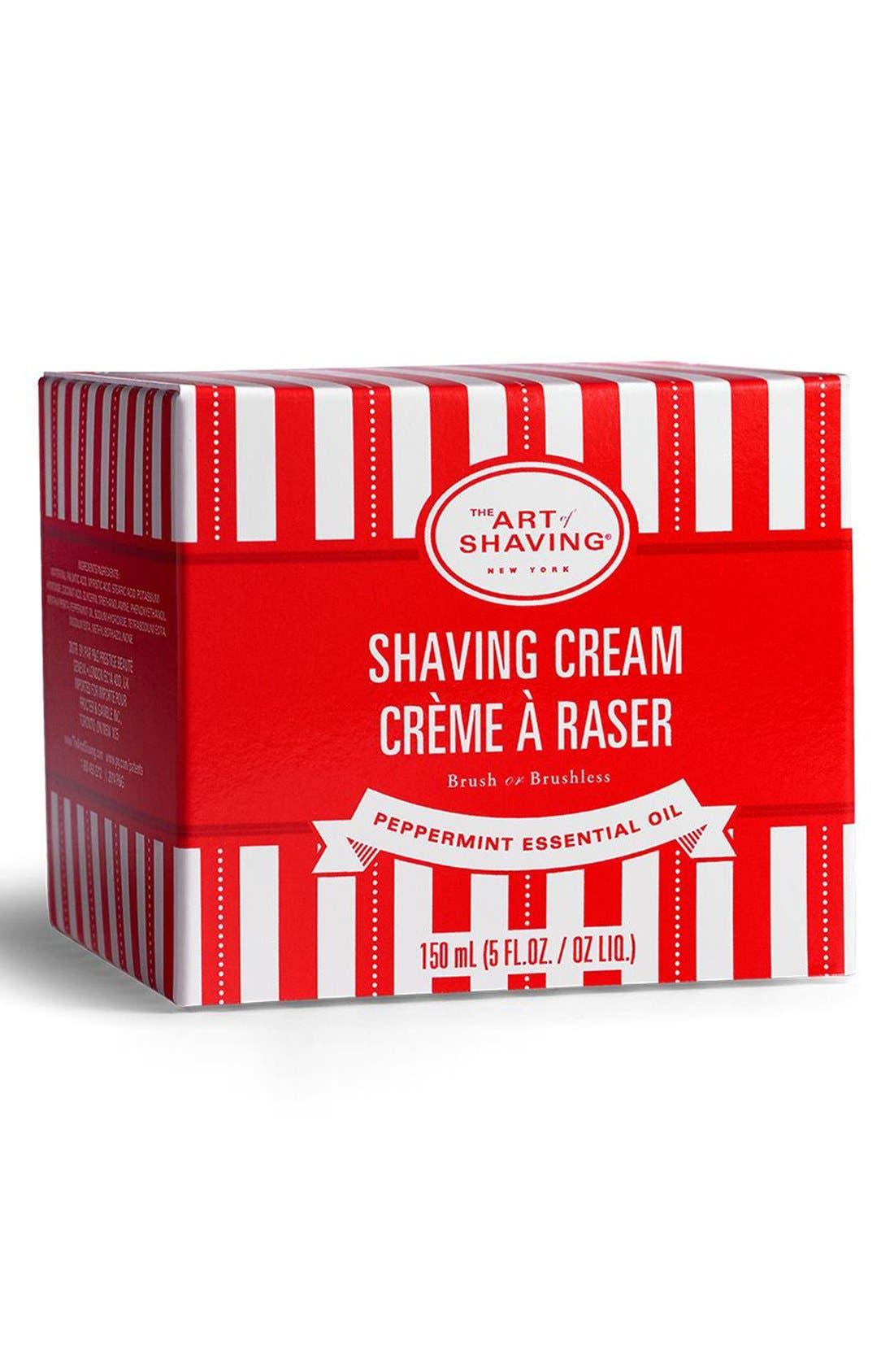 'Peppermint Essential Oil' Shaving Cream,                             Alternate thumbnail 3, color,                             000