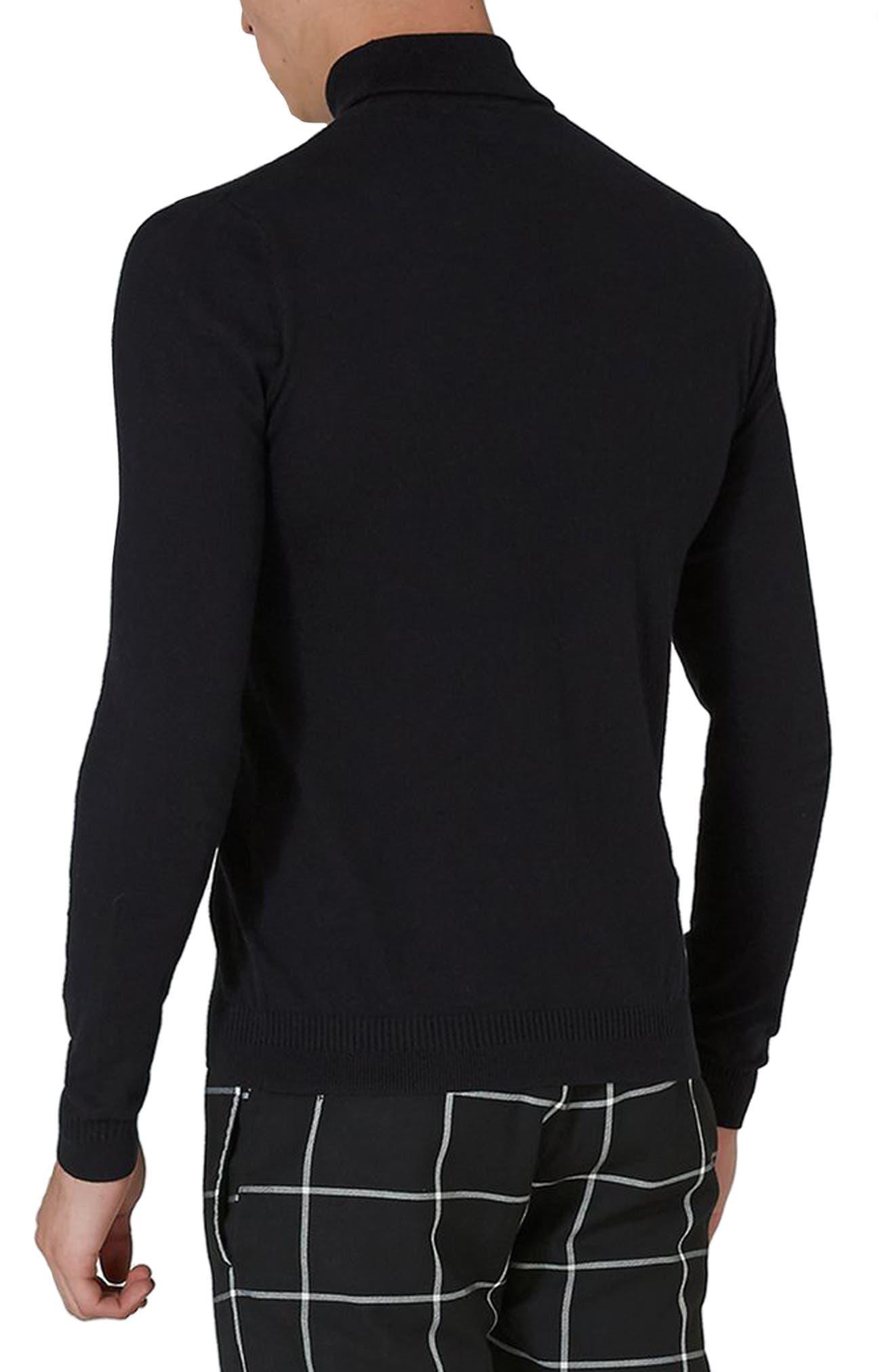 Cotton Turtleneck Sweater,                             Alternate thumbnail 2, color,                             001