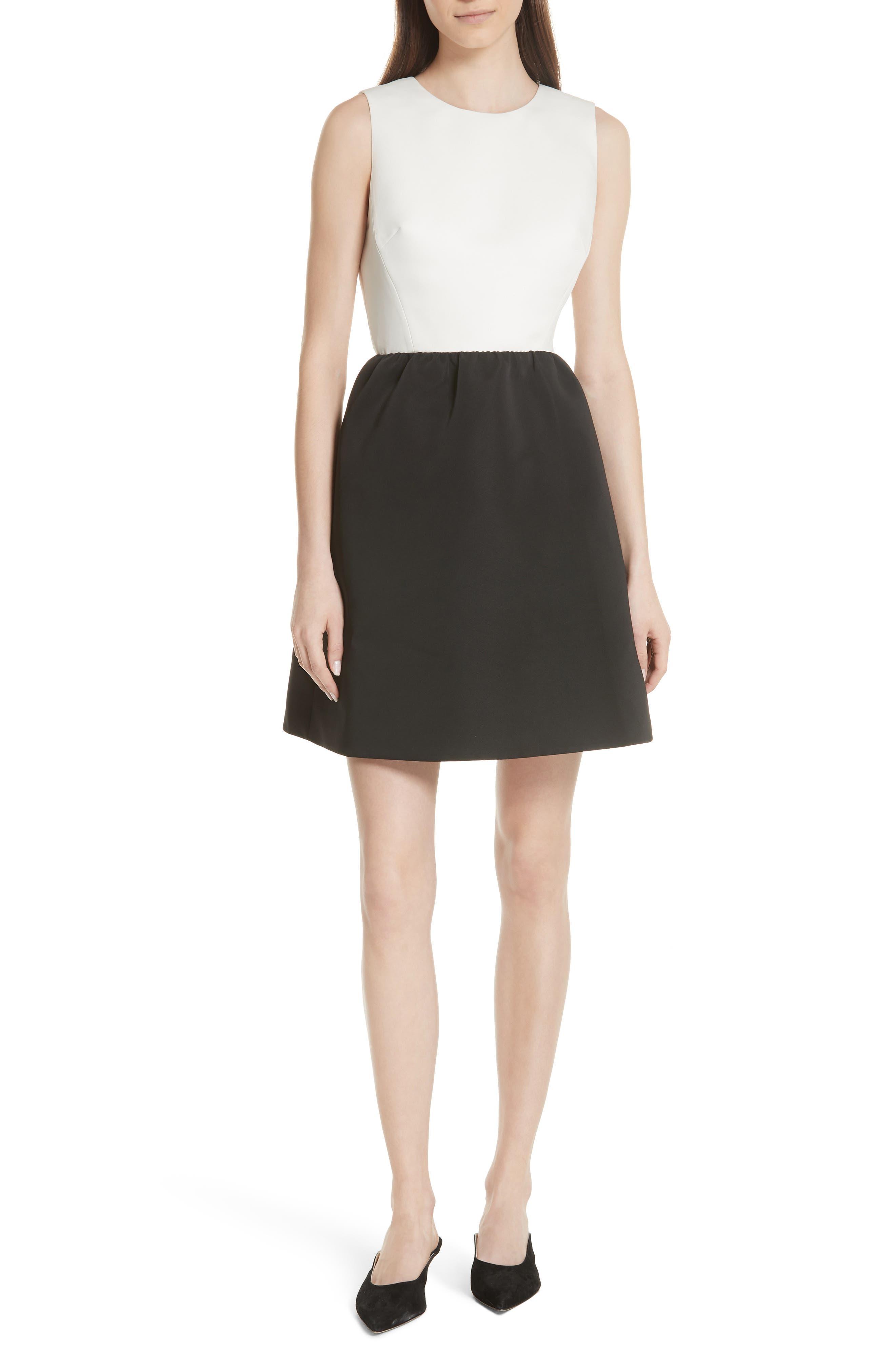 bow back mini dress,                             Main thumbnail 1, color,                             017