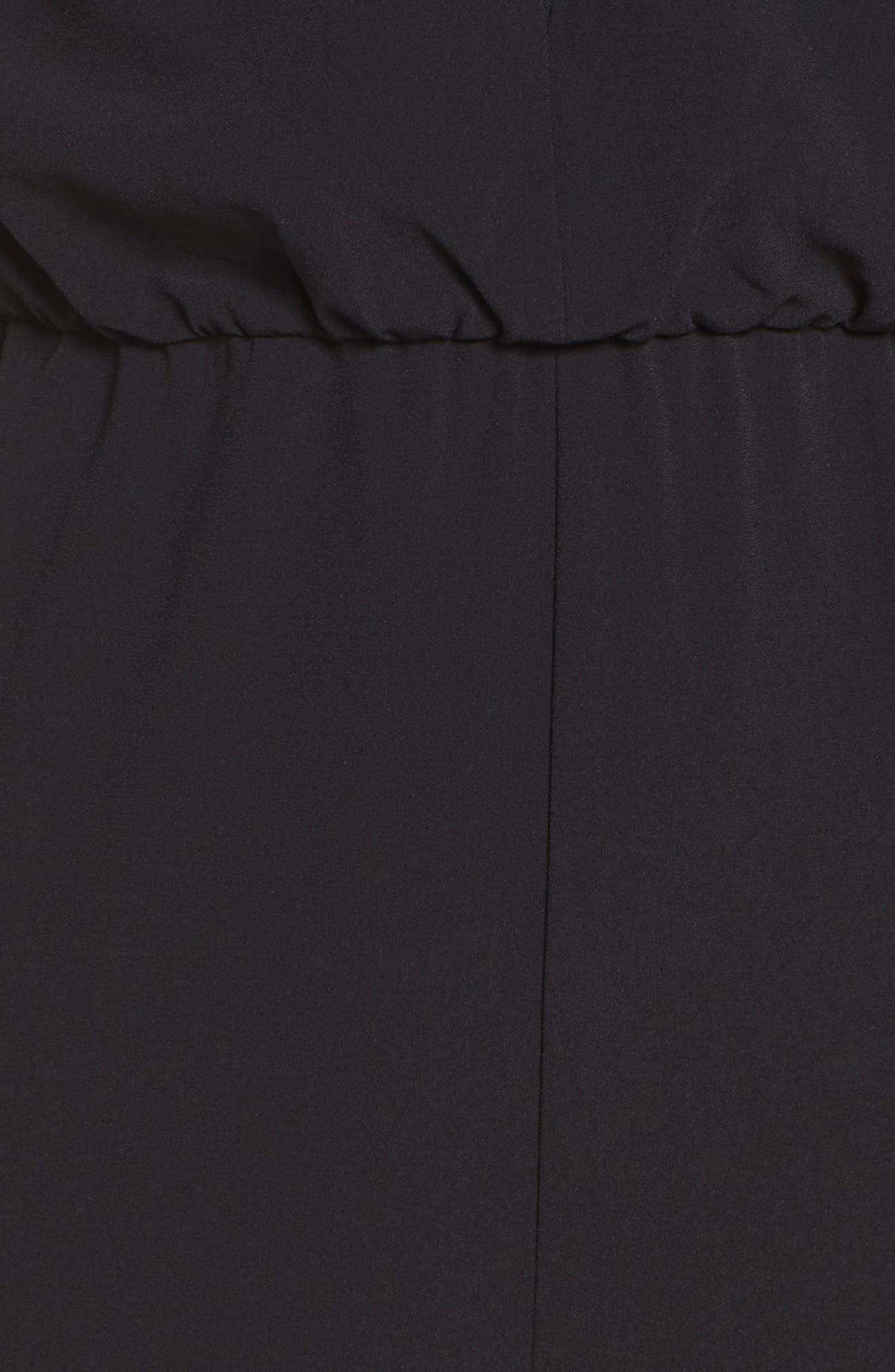 Cape Sleeve Jumpsuit,                             Alternate thumbnail 5, color,                             001