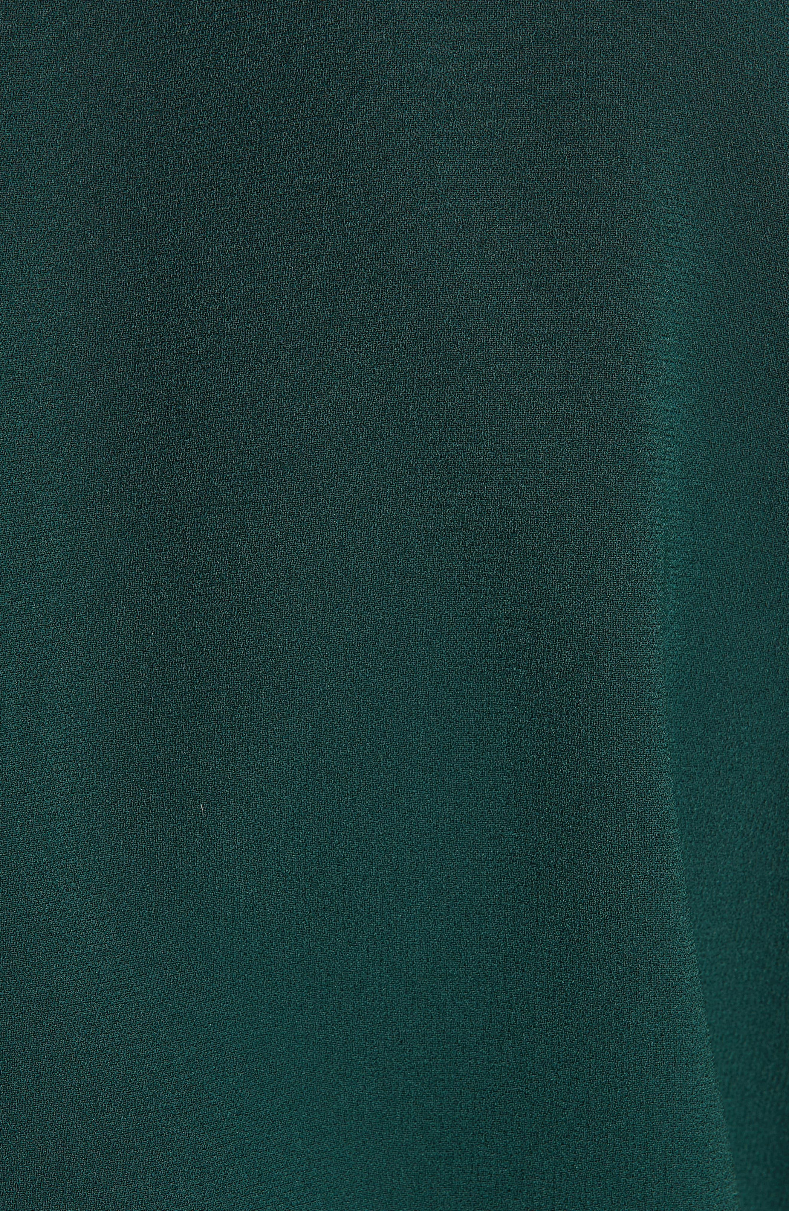 Verona Jewel Neck Dress,                             Alternate thumbnail 5, color,                             DK. GREEN