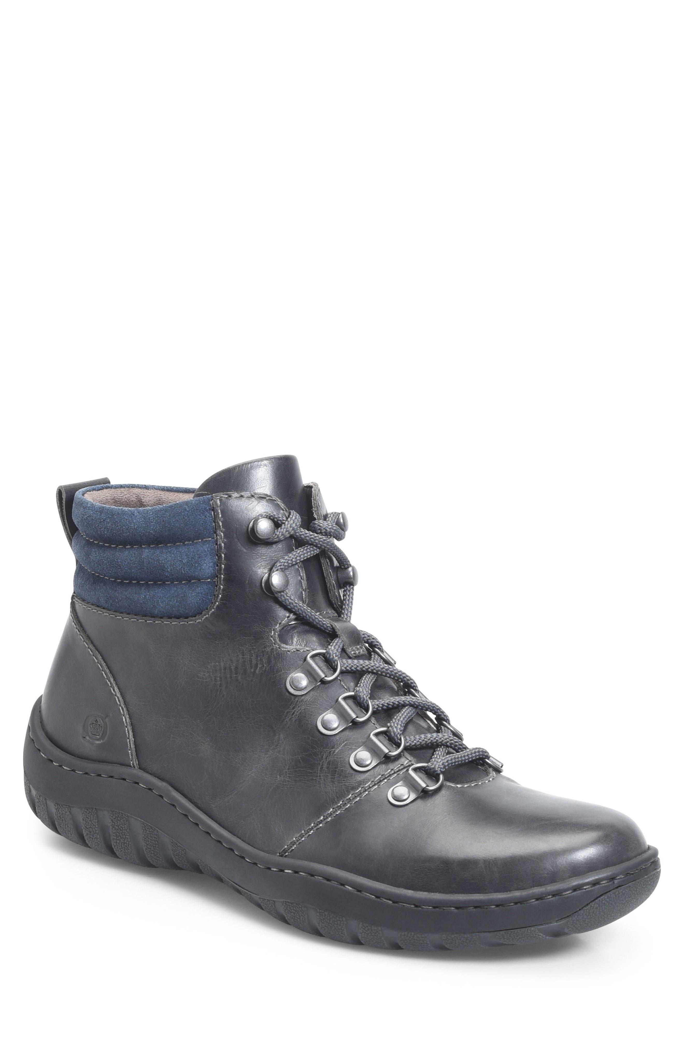 Dutchman Plain Toe Boot,                             Main thumbnail 1, color,                             DARK GREY/ BLUE