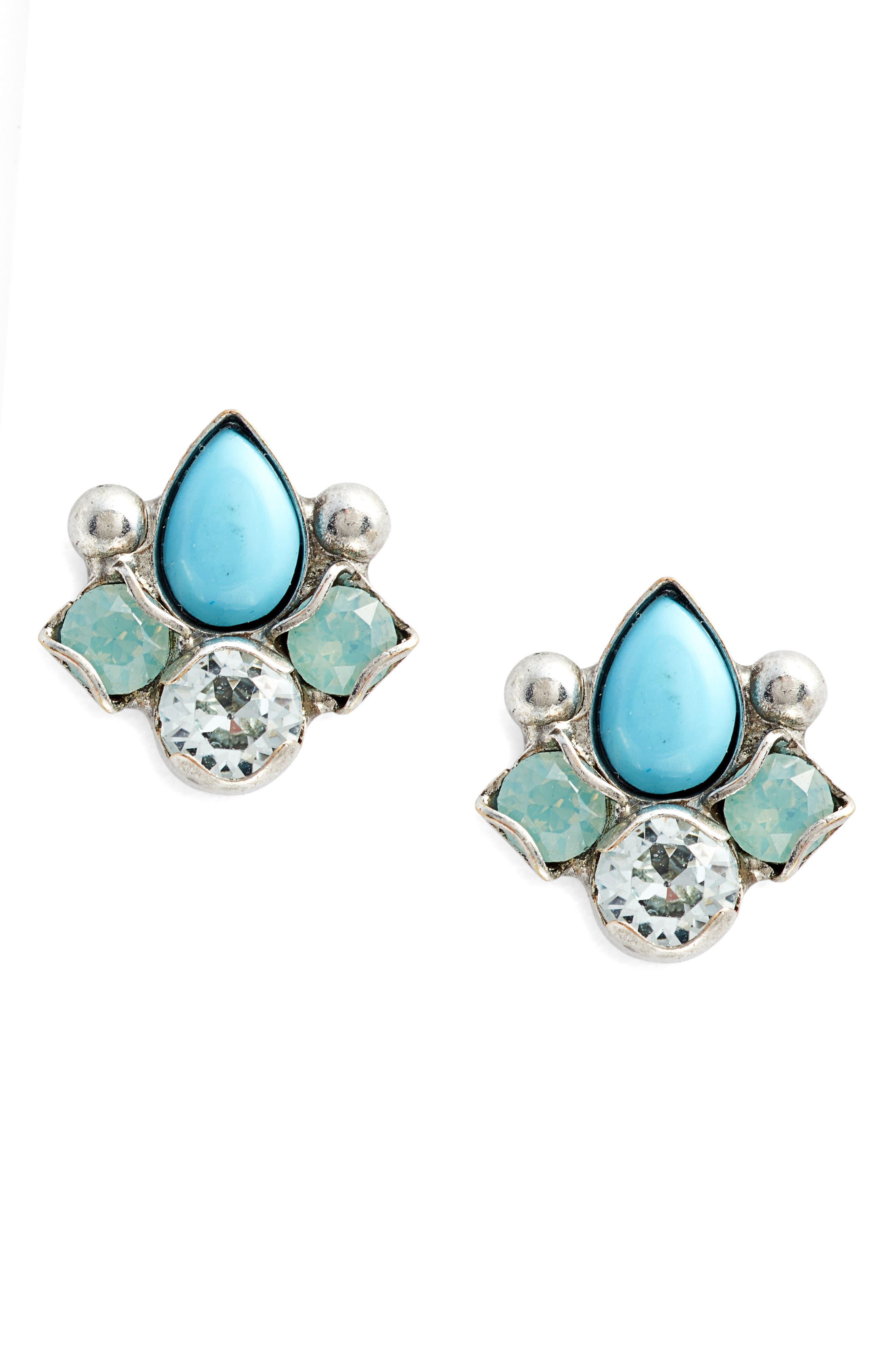 Buzzworthy Earrings,                         Main,                         color, BLUE-GREEN