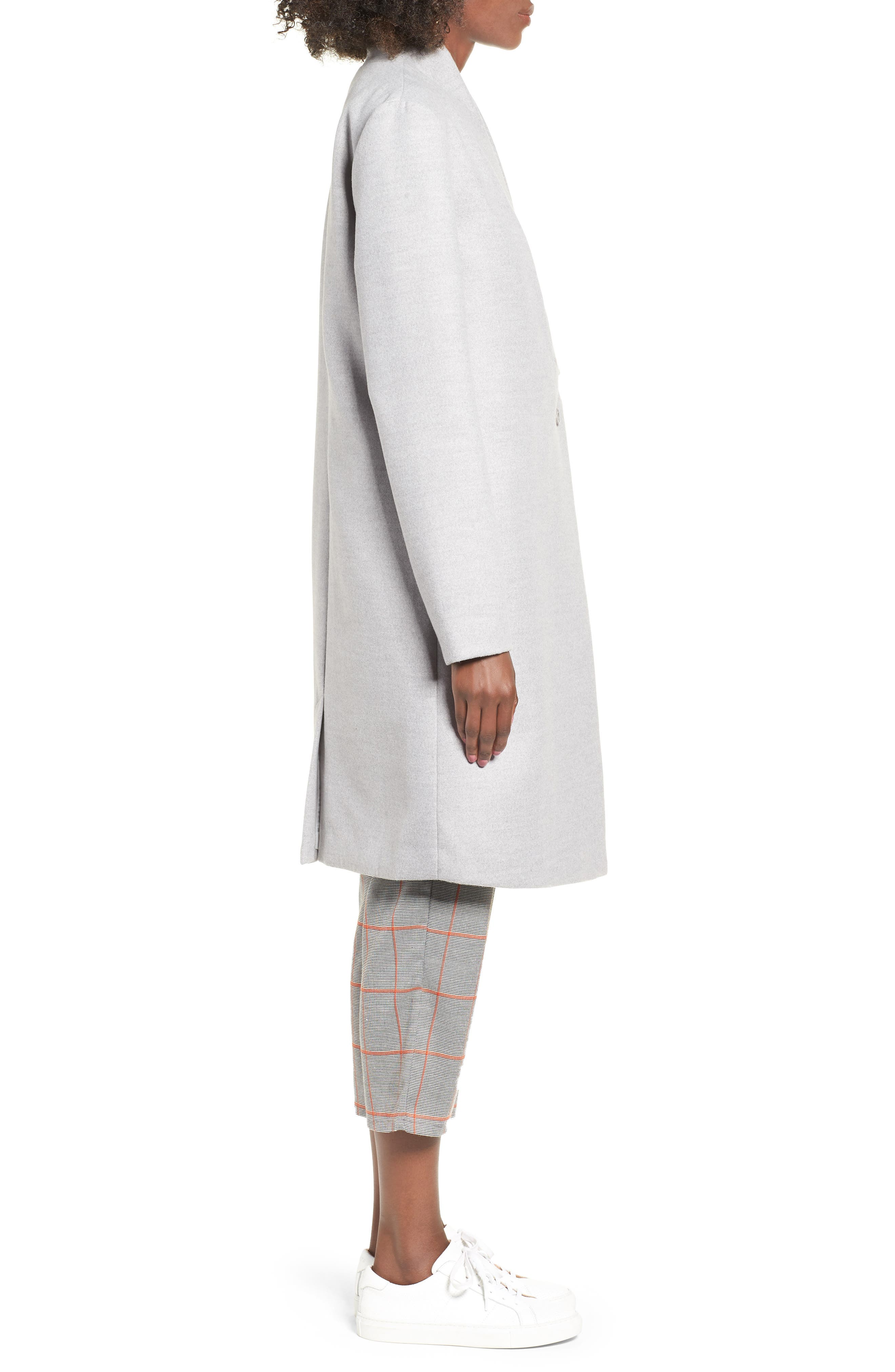 Seminar Coat,                             Alternate thumbnail 3, color,                             GREY MARLE