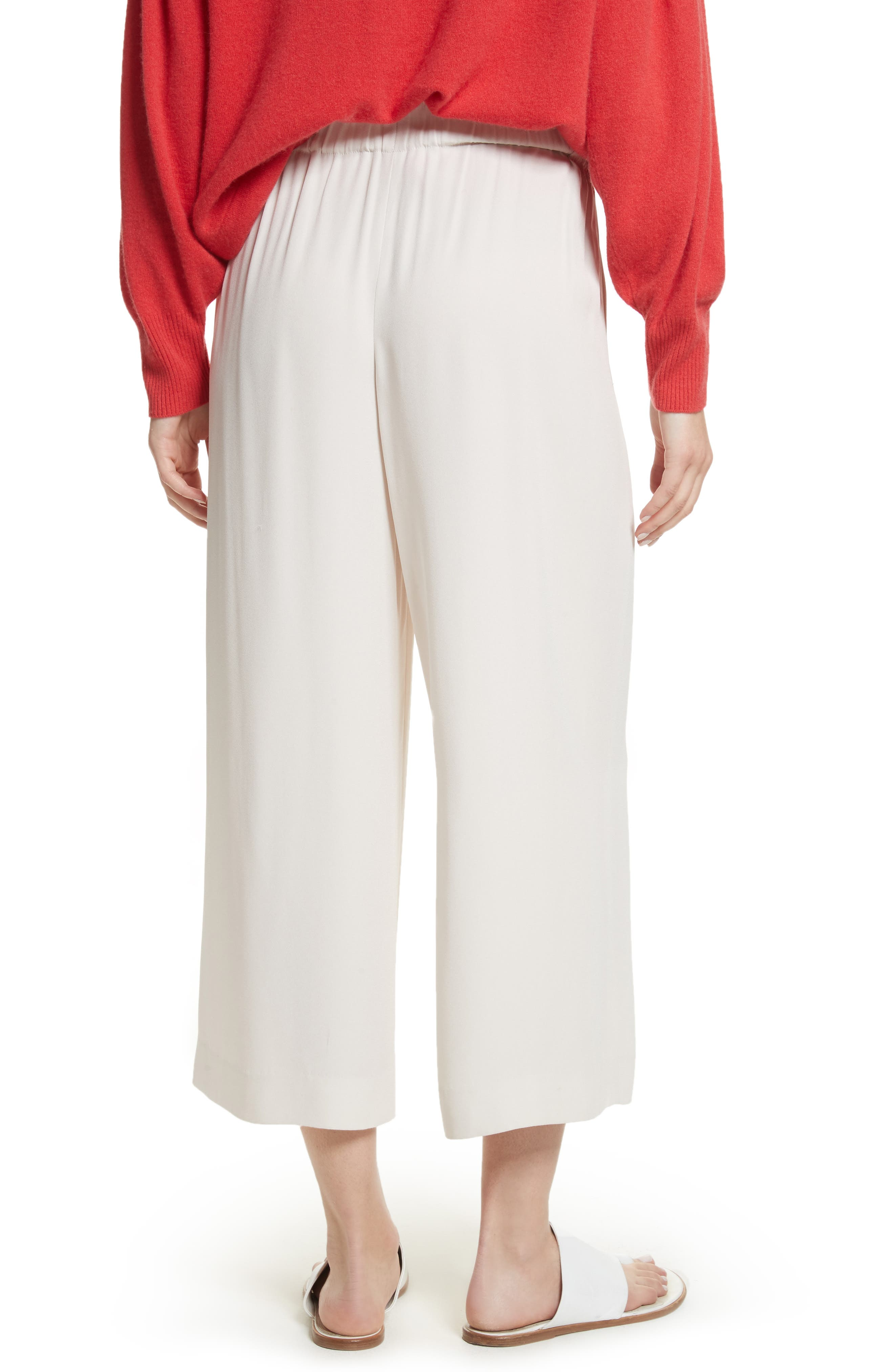 Cinched Waist Culottes,                             Alternate thumbnail 4, color,