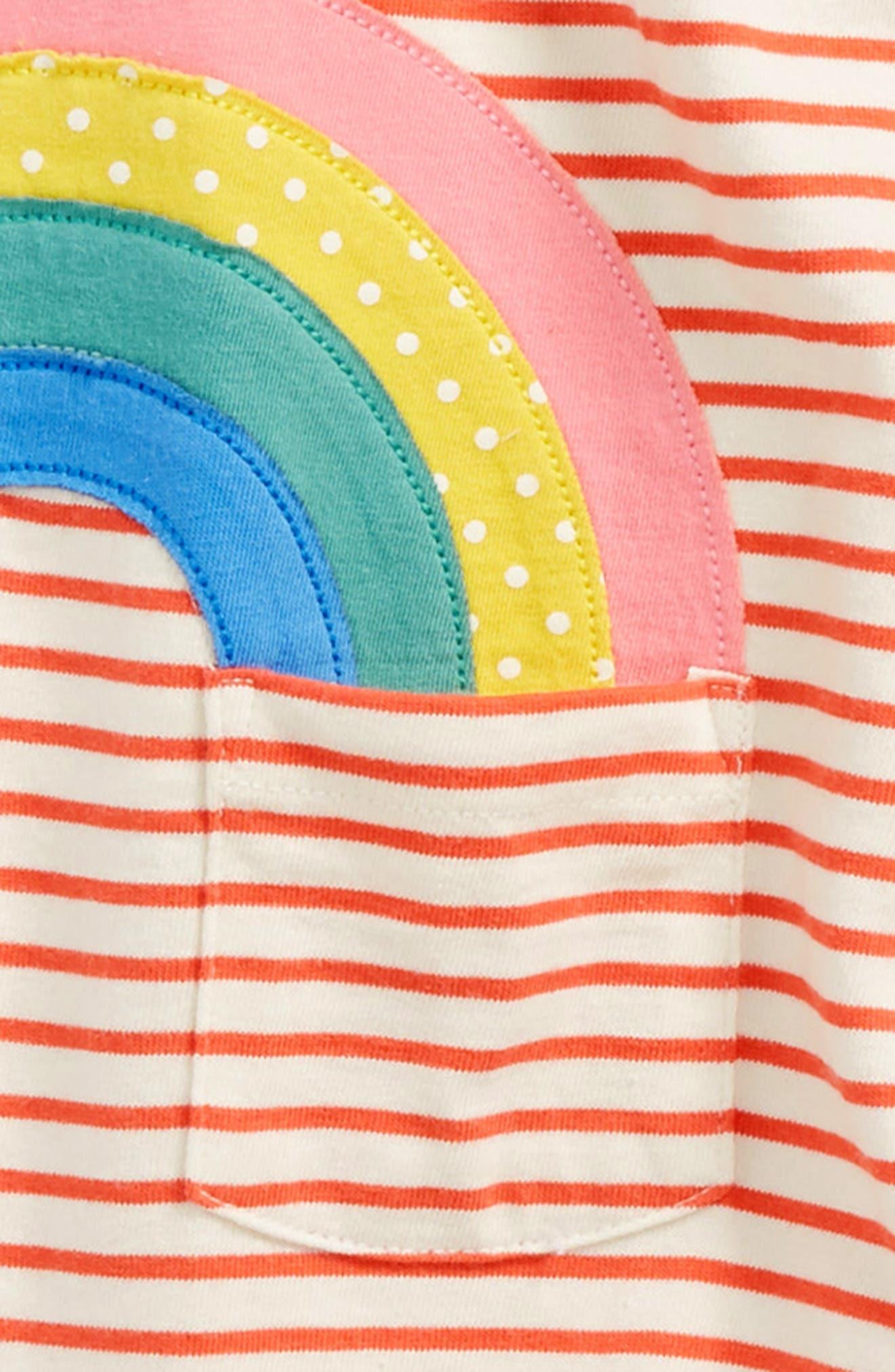 Appliqué Jersey Dungarees Romper,                             Alternate thumbnail 2, color,                             814