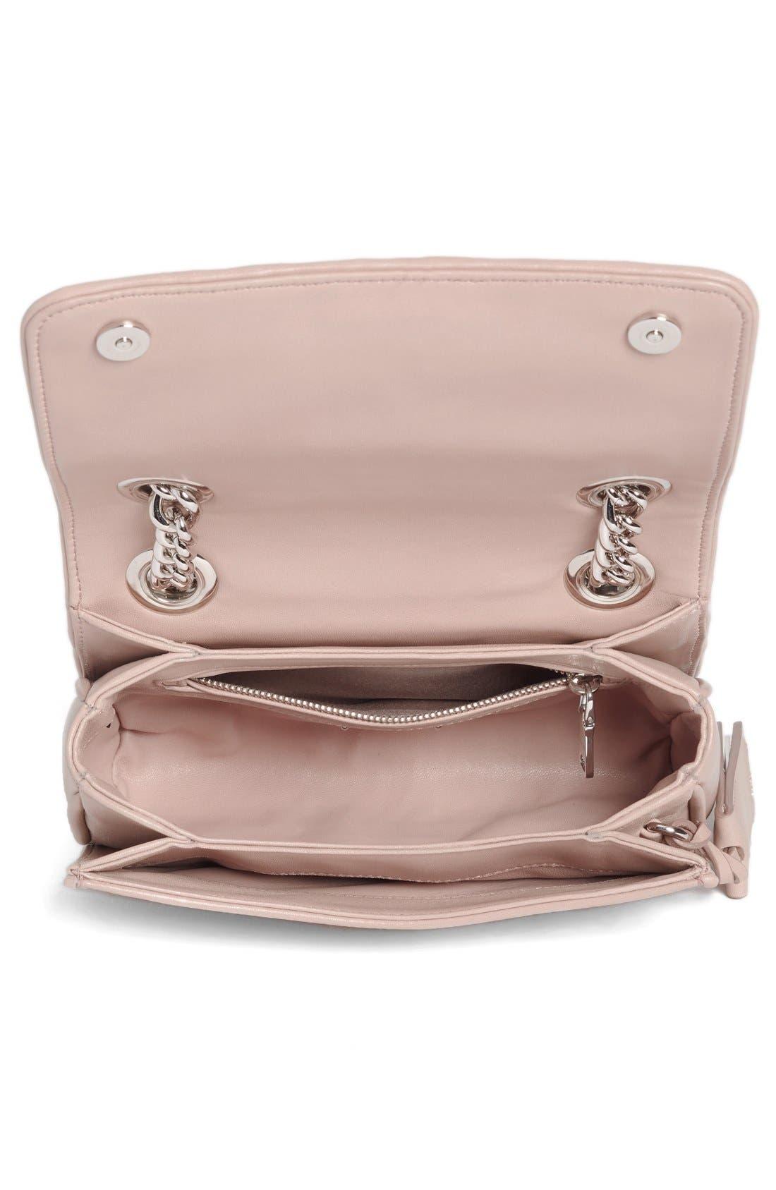 Small Matelassé Leather Shoulder Bag,                             Alternate thumbnail 12, color,