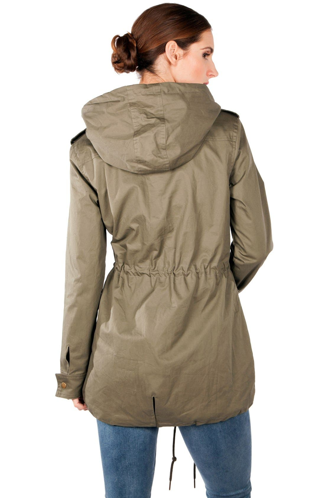 Convertible Military 3-in-1 Maternity/Nursing Jacket,                             Alternate thumbnail 8, color,                             KHAKI GREEN