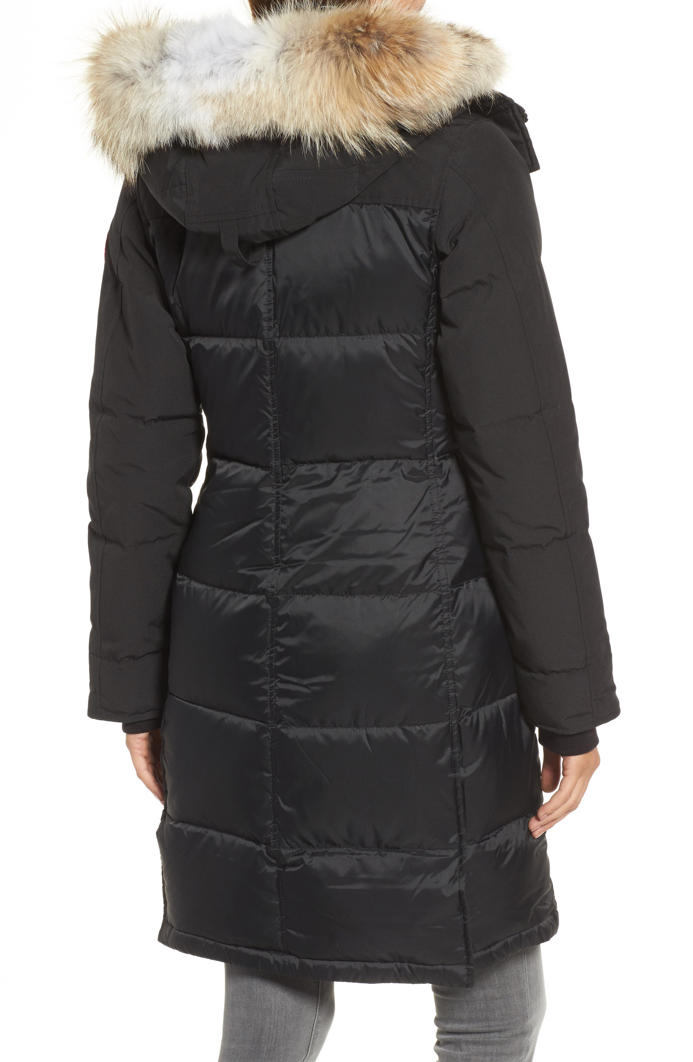 Rowley Down Parka with Genuine Fur Collar,                             Alternate thumbnail 2, color,                             001