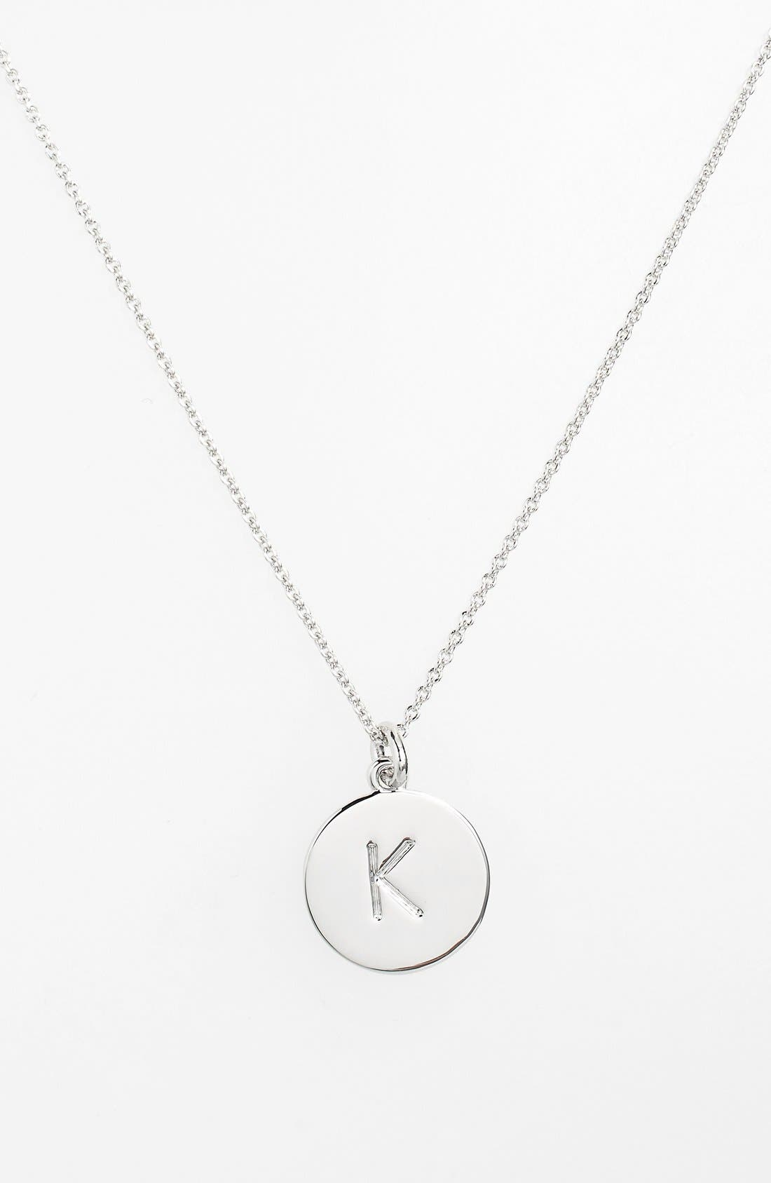 'one in a million' initial pendant necklace,                             Main thumbnail 1, color,                             SILVER K