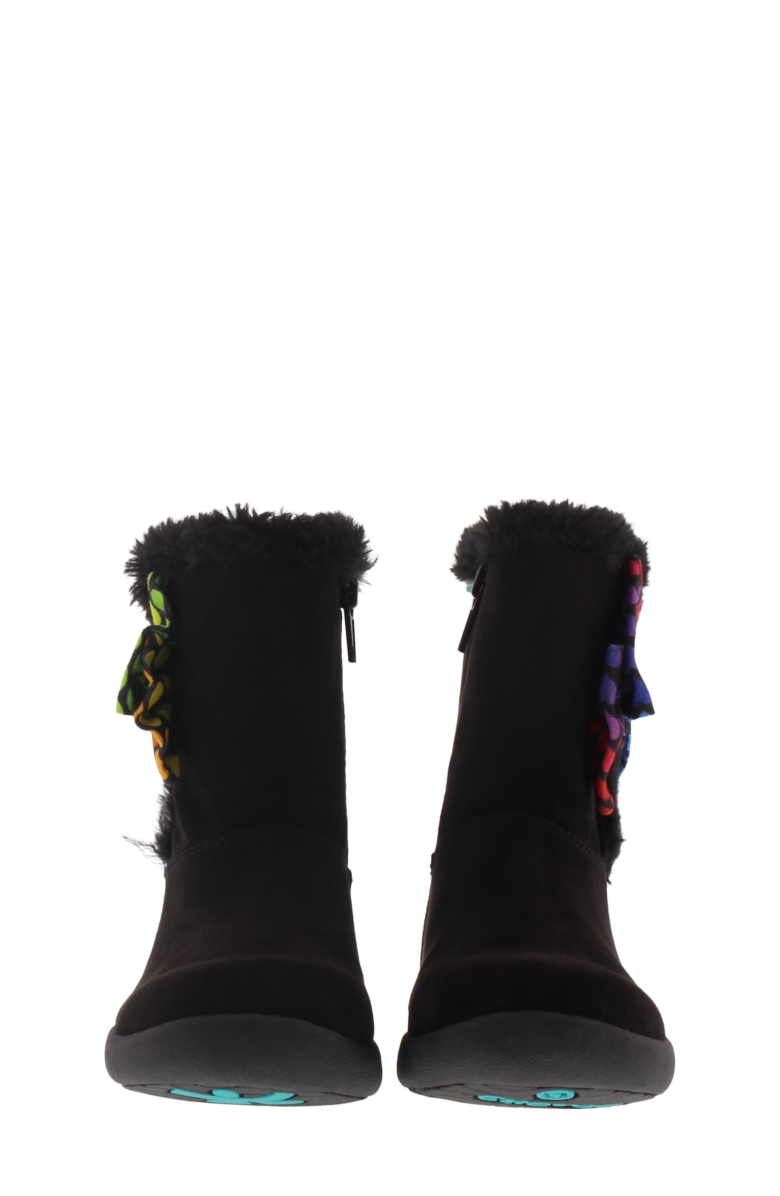Wish Faux Fur Lined Boot,                             Alternate thumbnail 4, color,                             BLACK