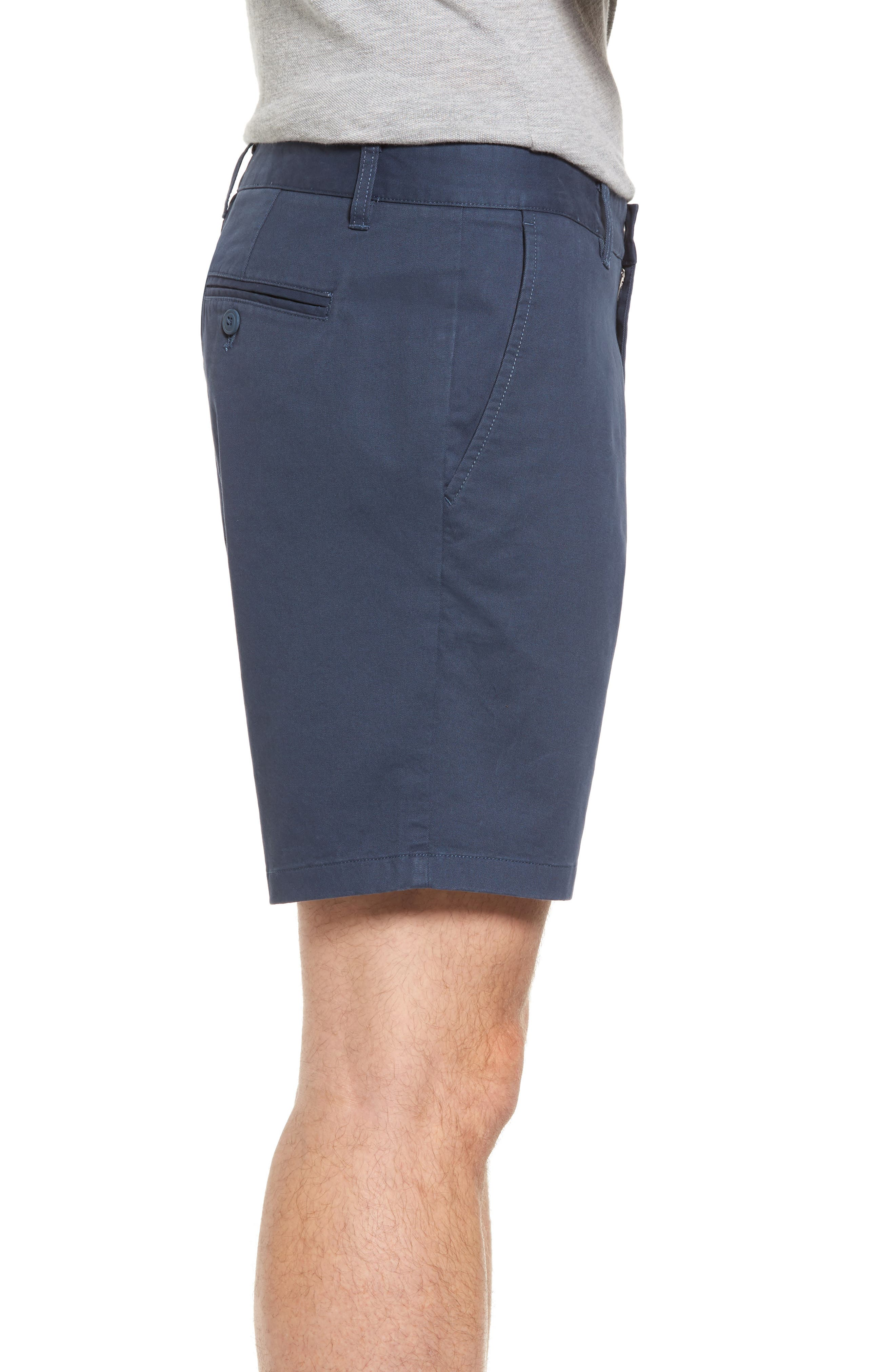 Stretch Washed Chino 7-Inch Shorts,                             Alternate thumbnail 3, color,                             STEELY