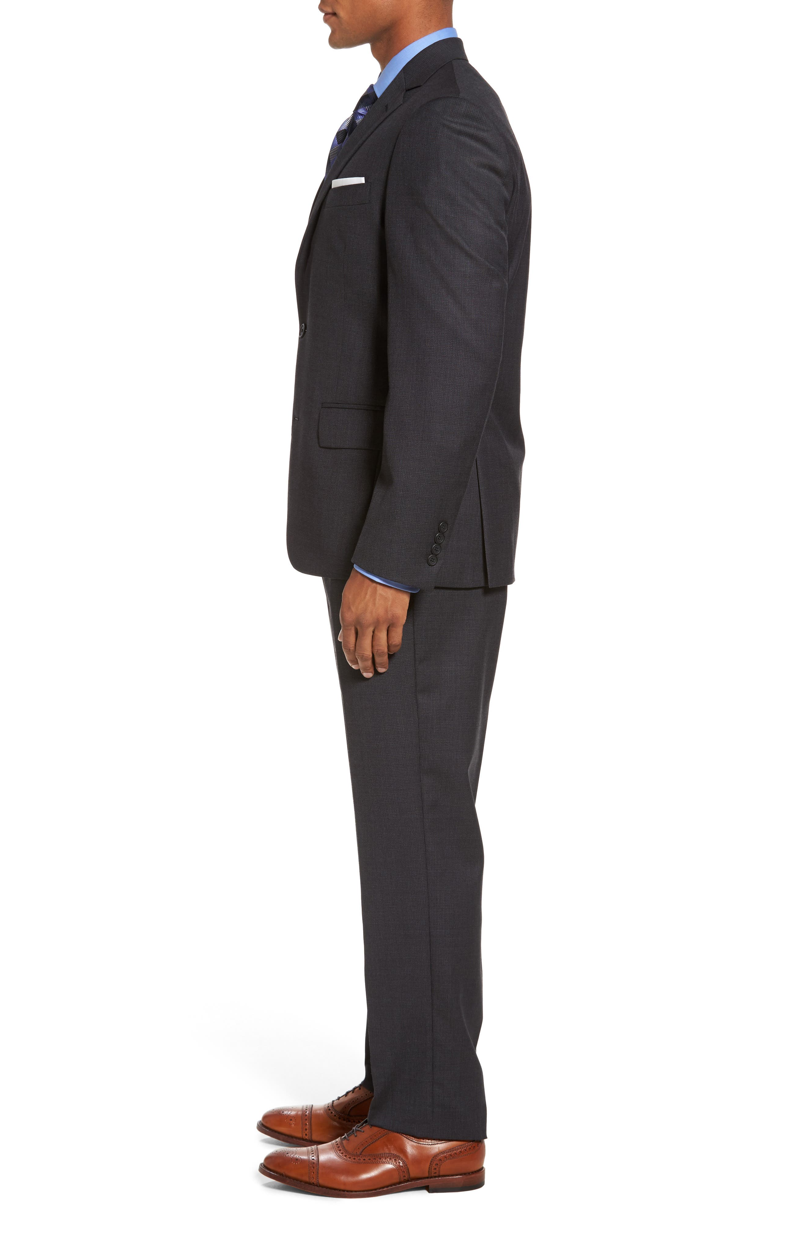 Classic Fit Solid Wool Suit,                             Alternate thumbnail 3, color,                             099