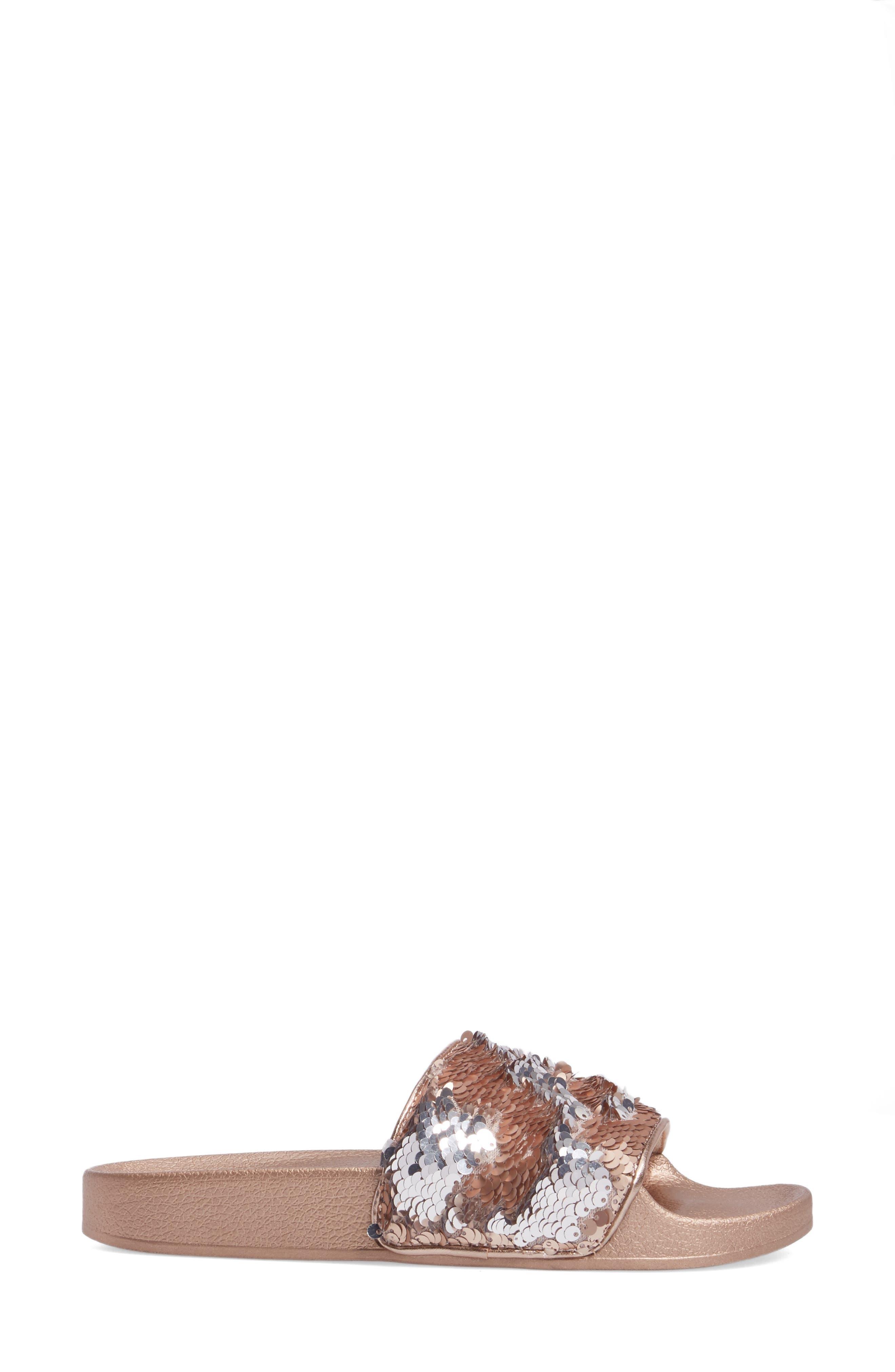 Softey Sequin Slide Sandal,                             Alternate thumbnail 3, color,                             686