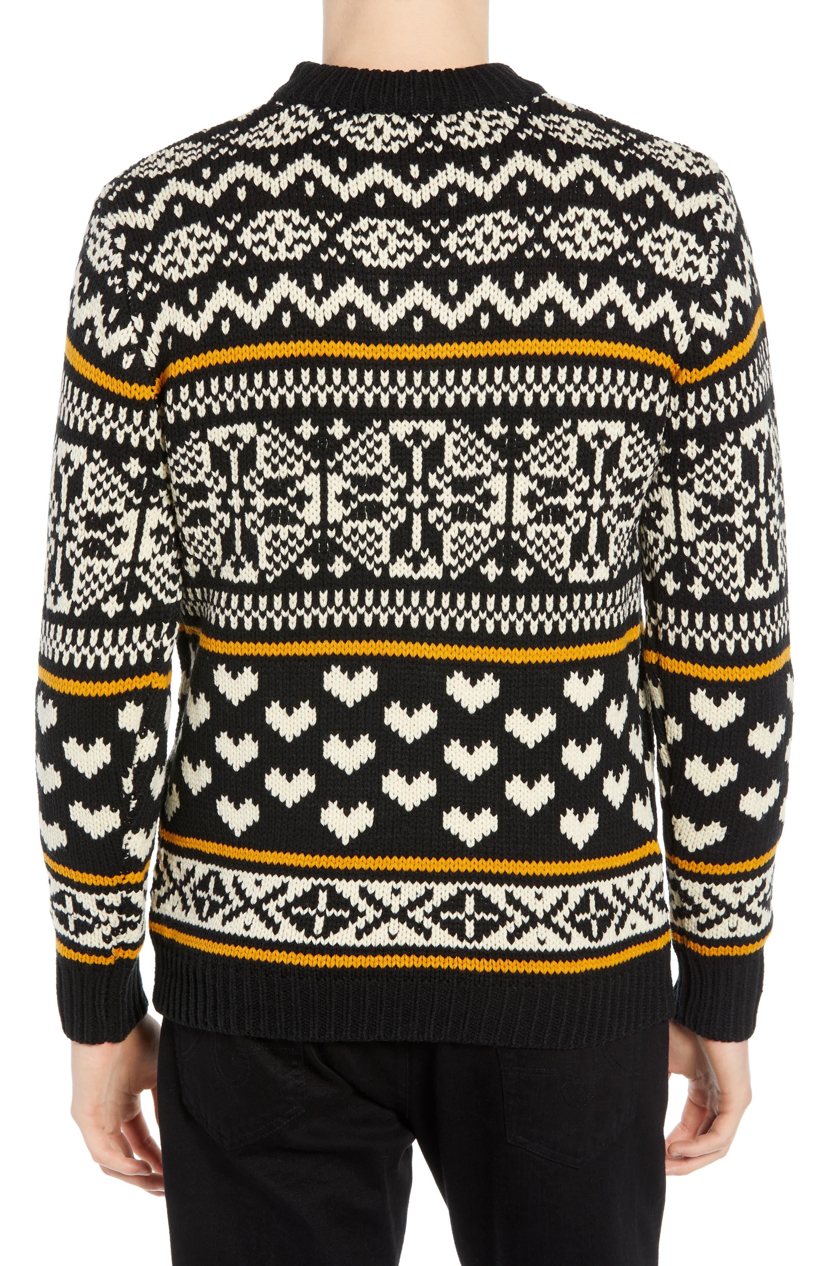 Chunky Fair Isle Sweater,                             Alternate thumbnail 2, color,                             COMBO B
