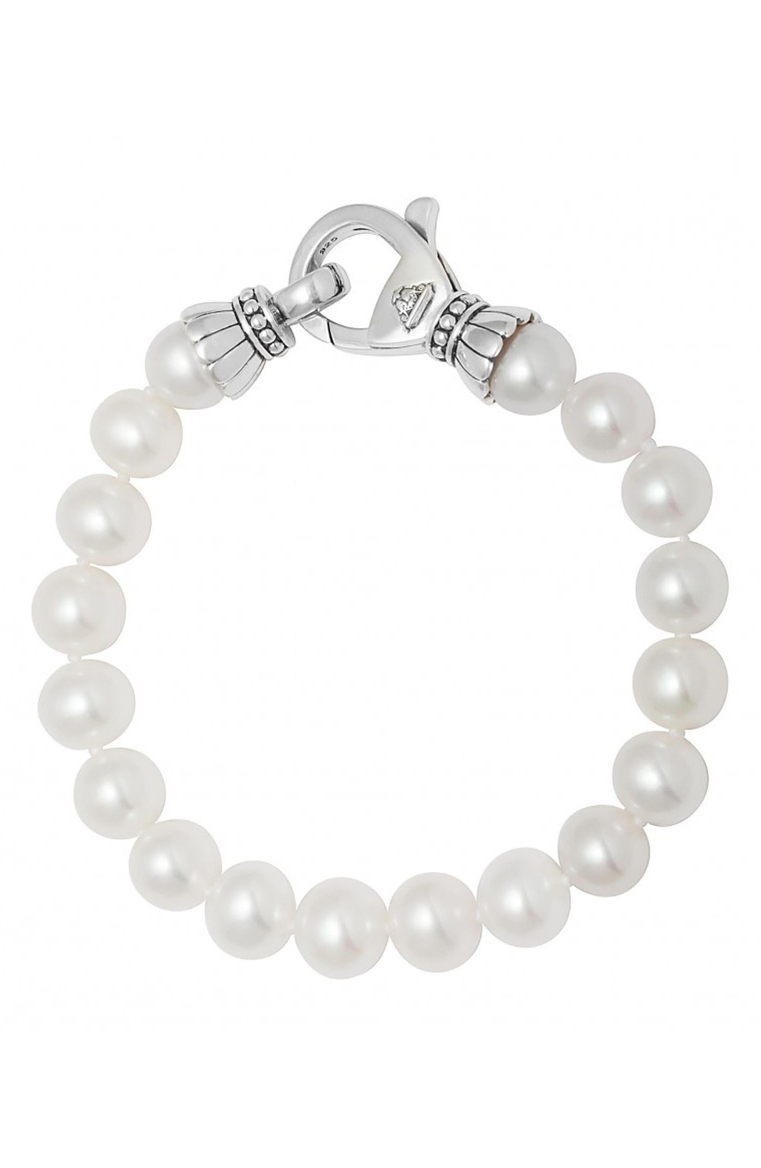 'Luna' 9mm Pearl Bracelet,                             Alternate thumbnail 2, color,                             040