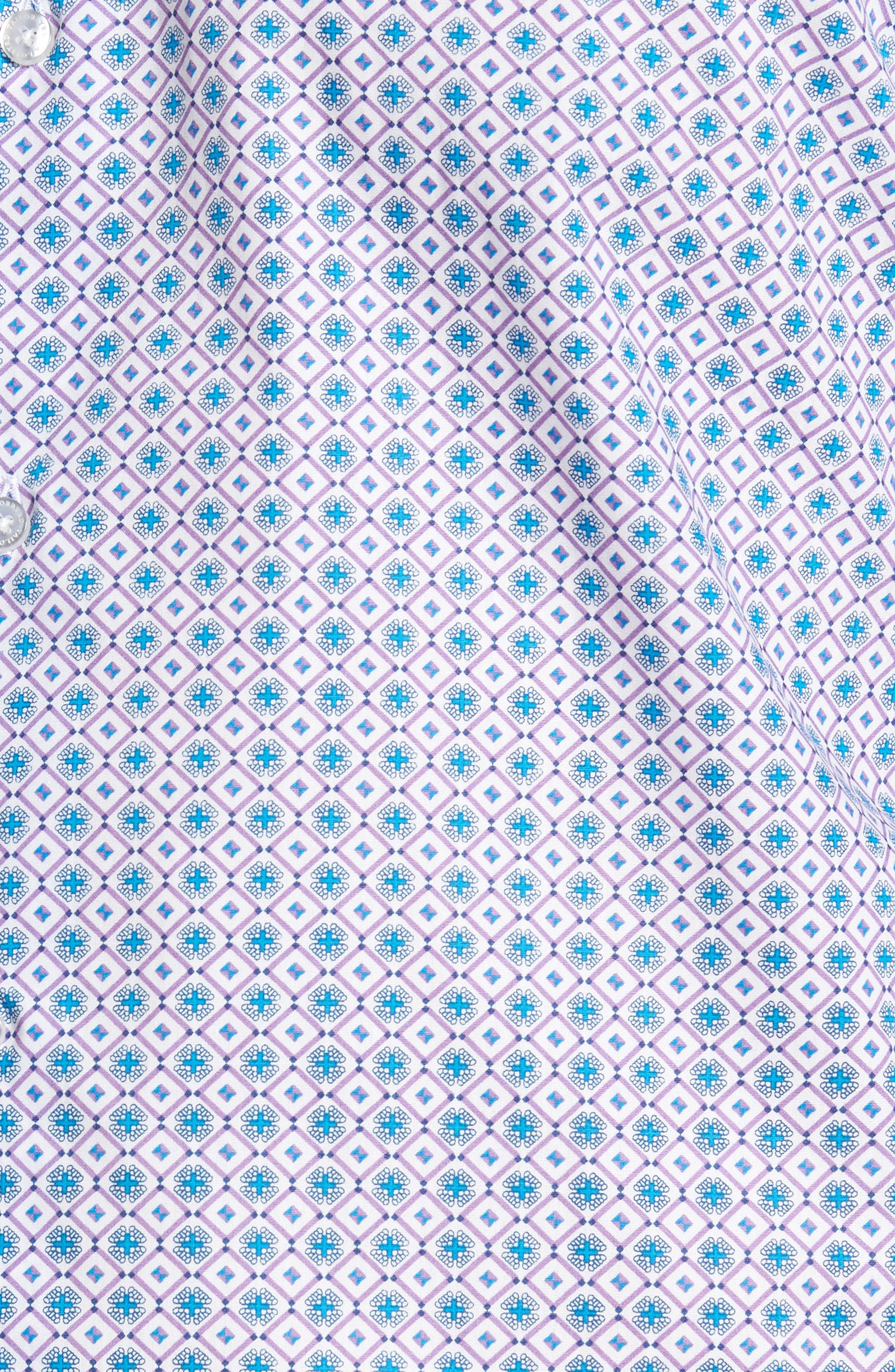 Sycamore Print Sport Shirt,                             Alternate thumbnail 5, color,                             530