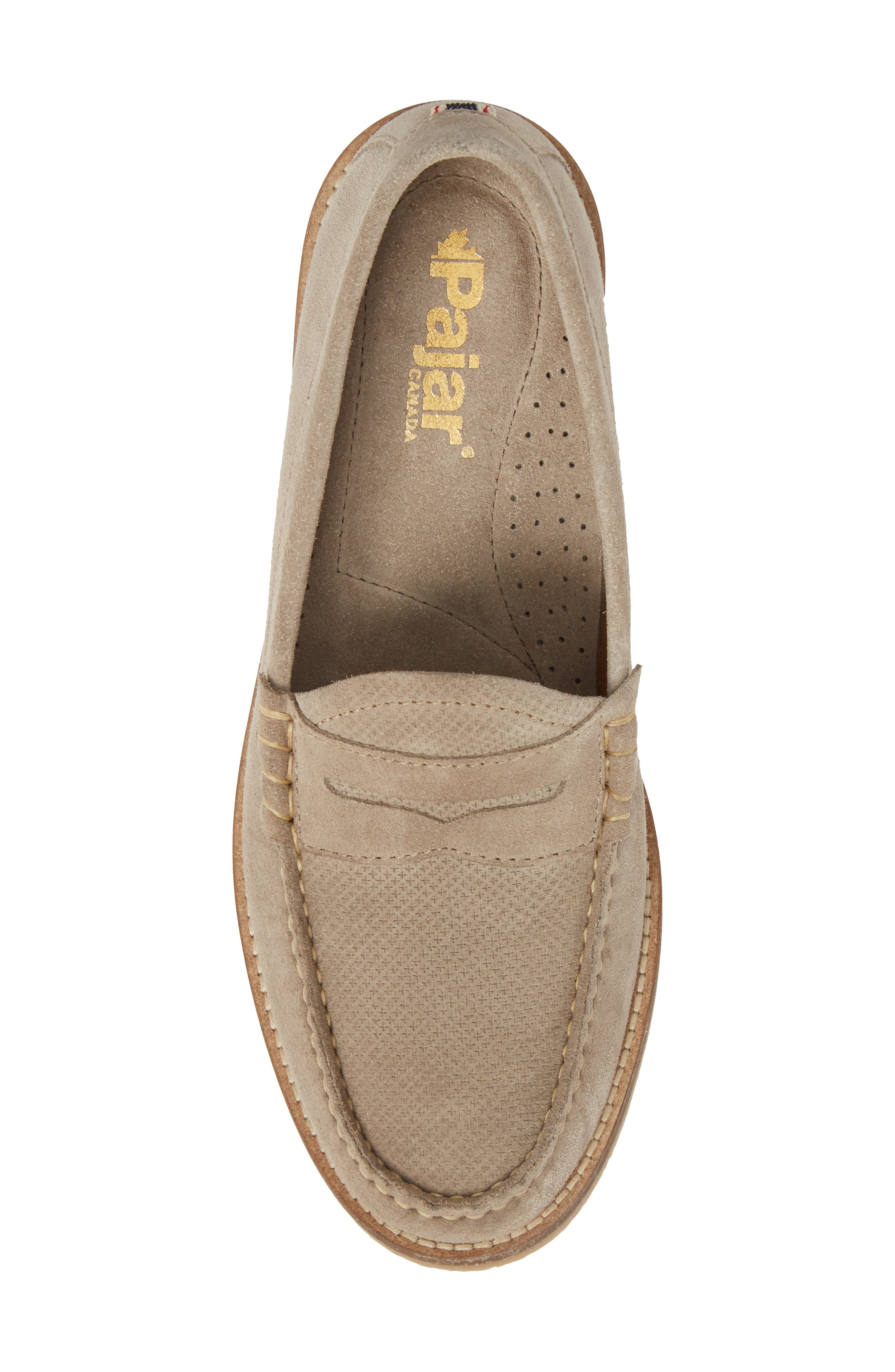 Wayne Textured Penny Loafer,                             Alternate thumbnail 5, color,                             EARTH BEIGE