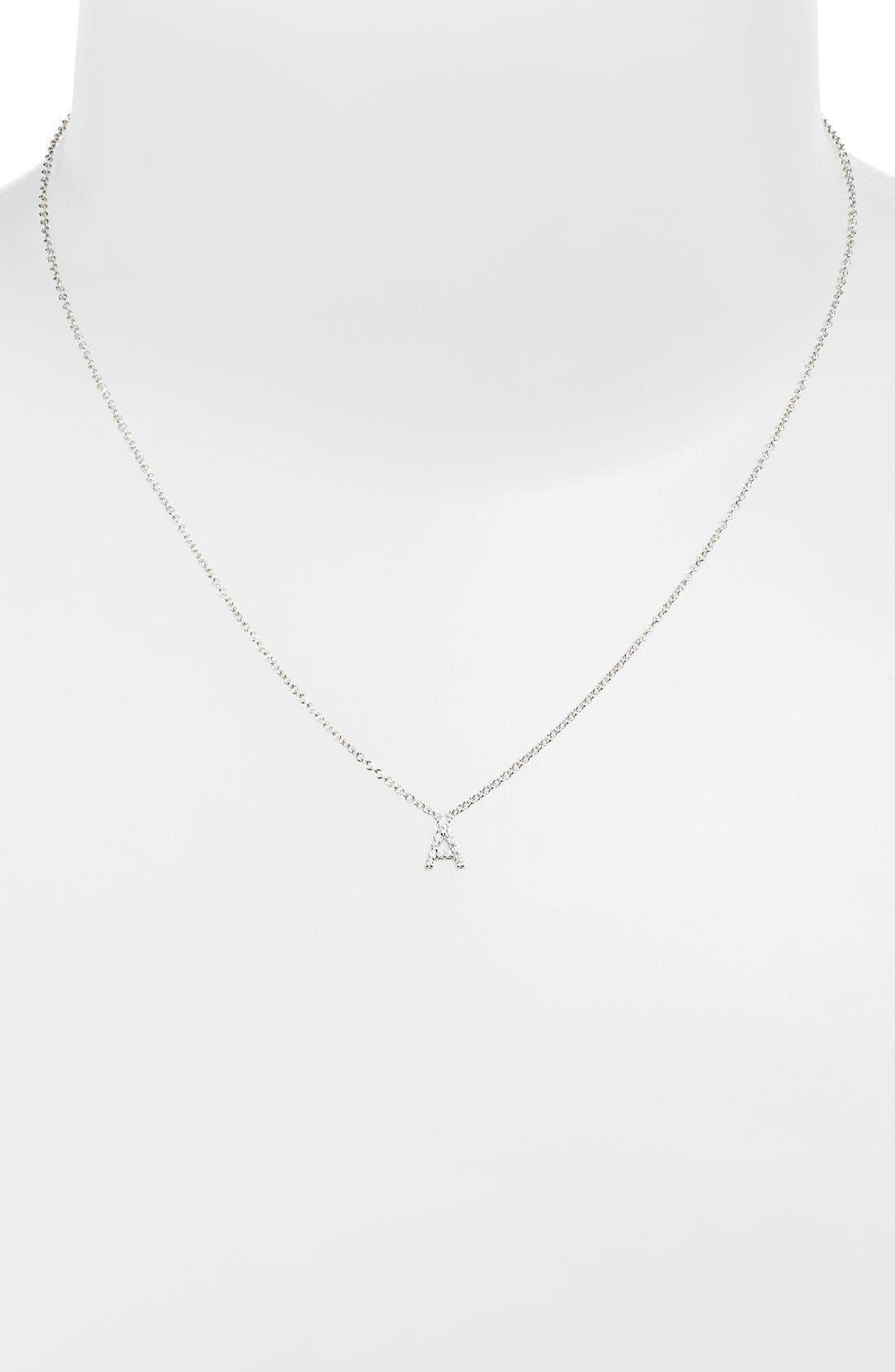 'Initial' Pendant Necklace, Main, color, 041