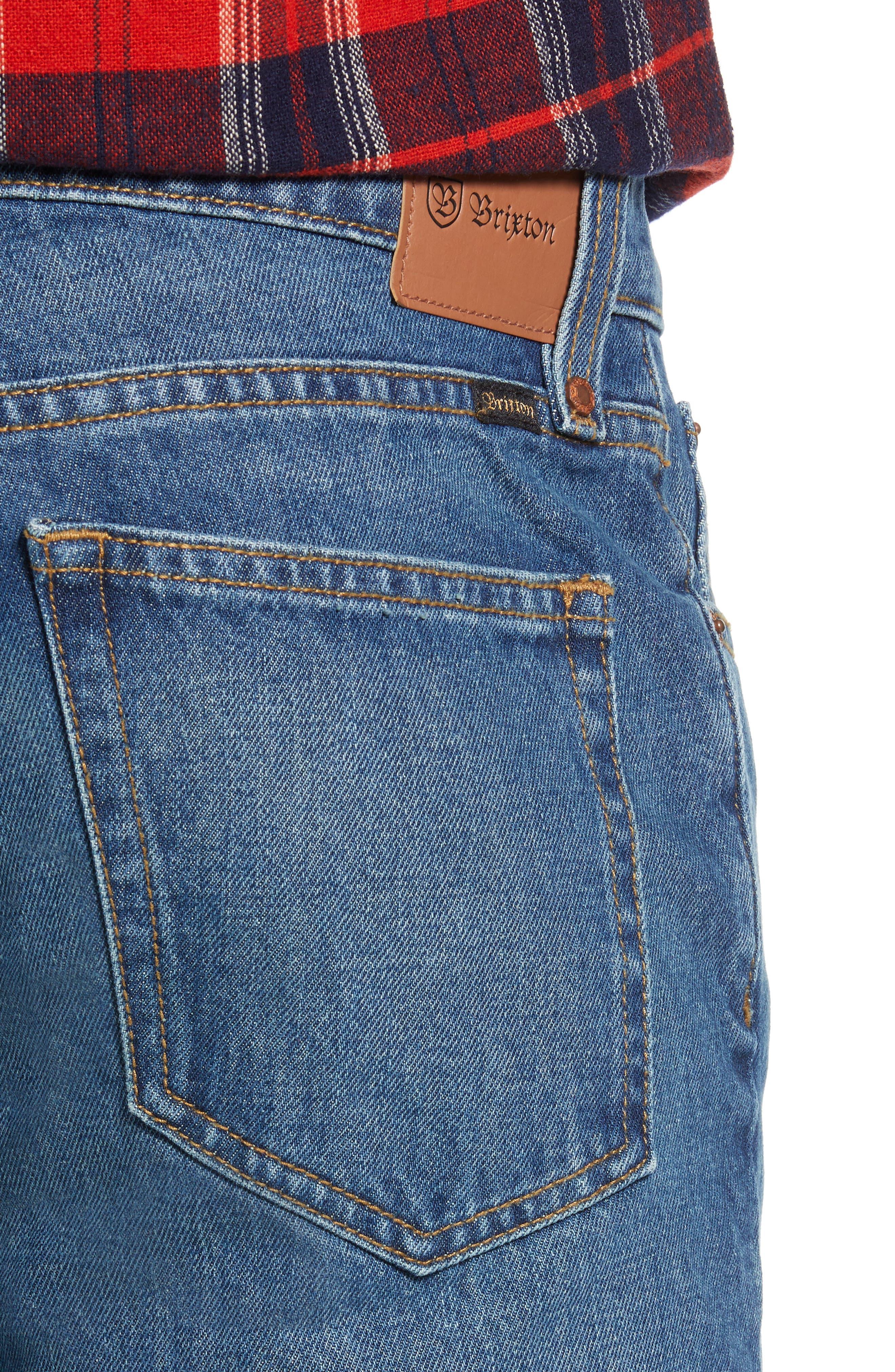 Labor Straight Leg Jeans,                             Alternate thumbnail 4, color,                             400