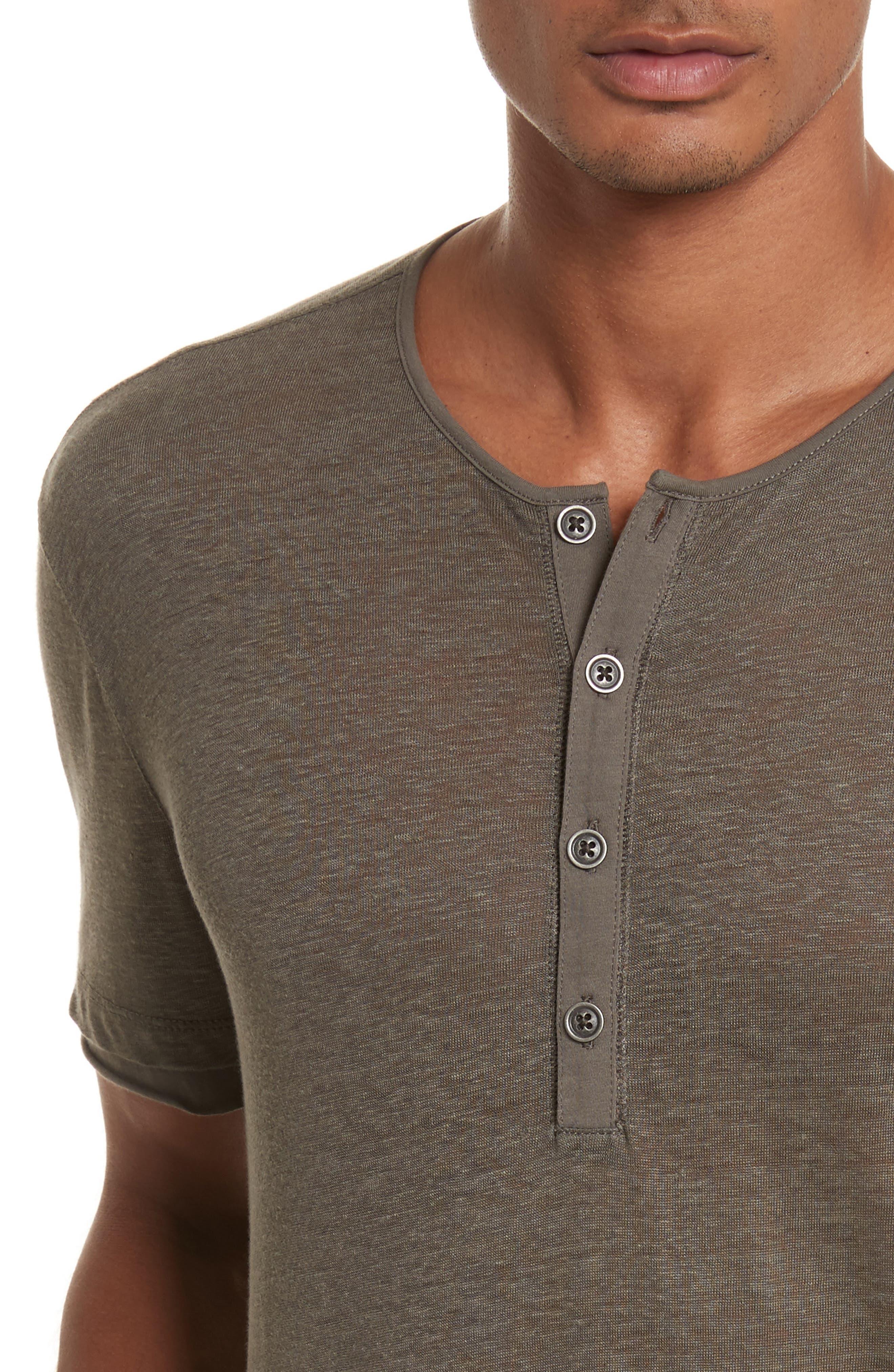 Linen Henley T-Shirt,                             Alternate thumbnail 4, color,                             336
