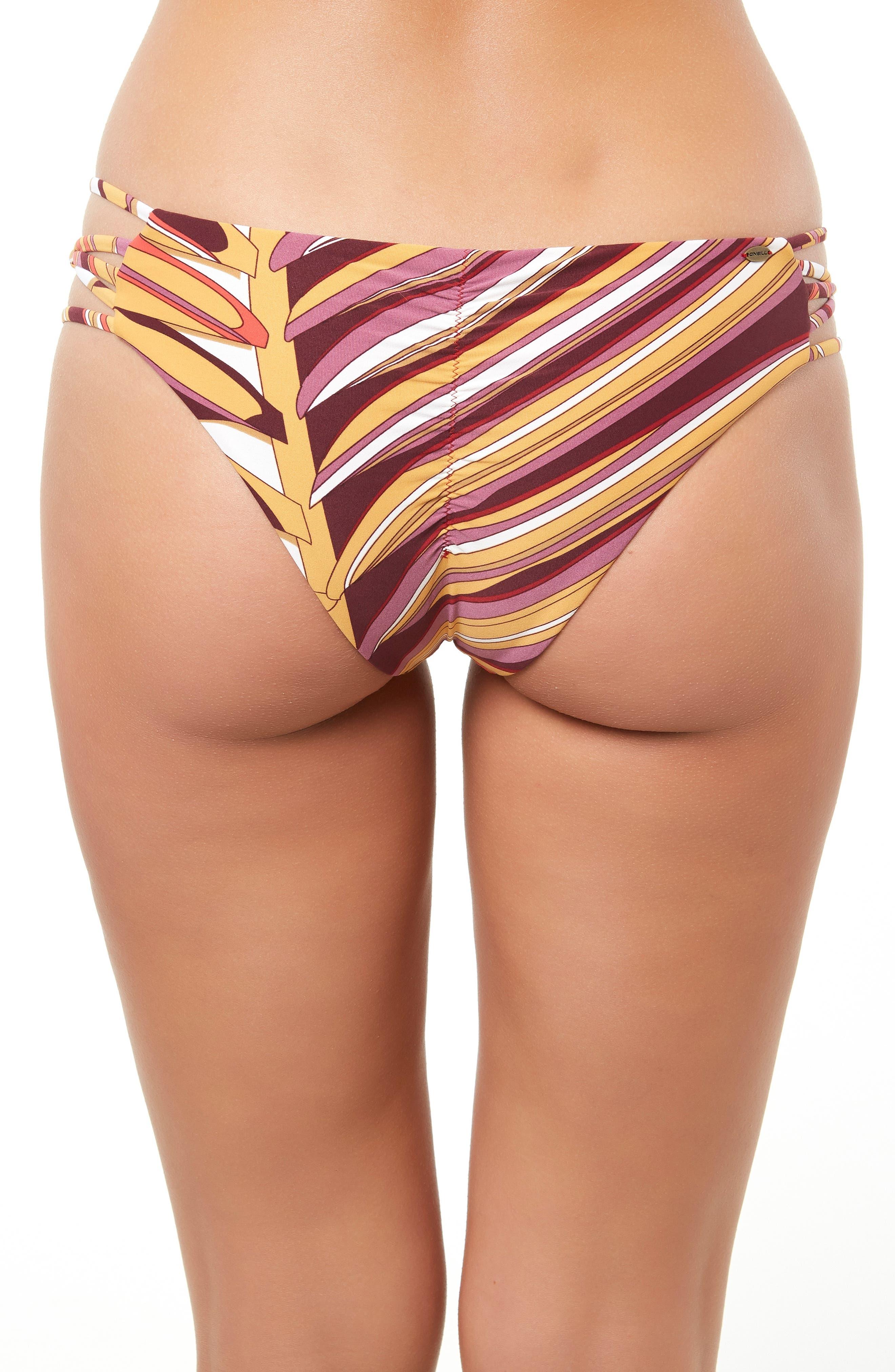 Anacapa Strappy Hipster Bikini Bottoms,                             Alternate thumbnail 4, color,                             PURPLE MAUVE