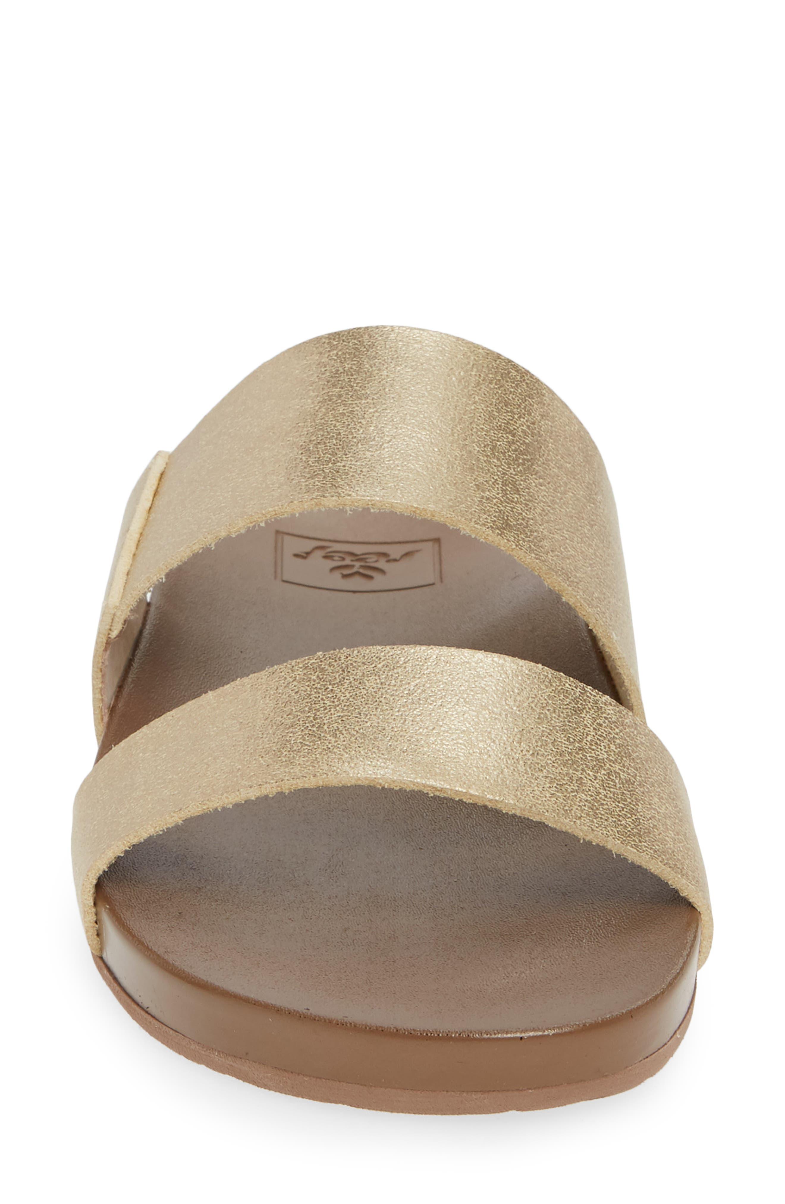 Cushion Bounce Vista Slide Sandal,                             Alternate thumbnail 4, color,                             CHAMPAGNE