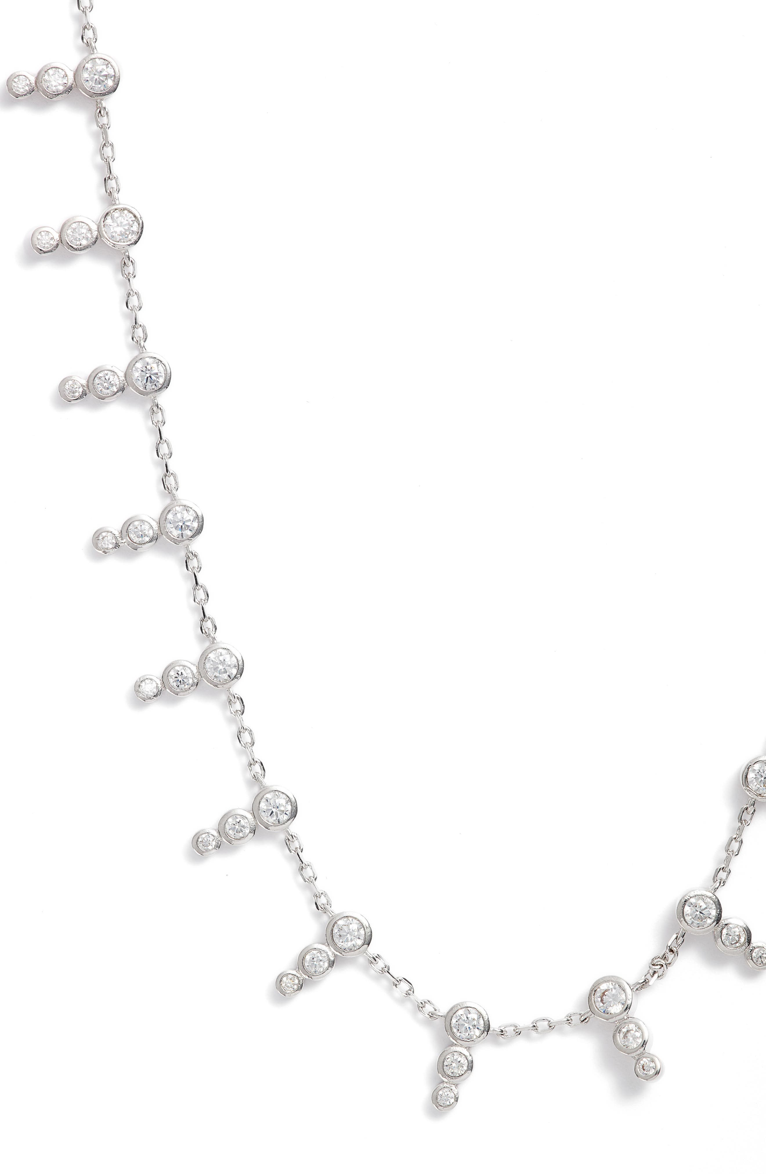 McPhee Cubic Zirconia Collar Necklace,                             Main thumbnail 1, color,                             041