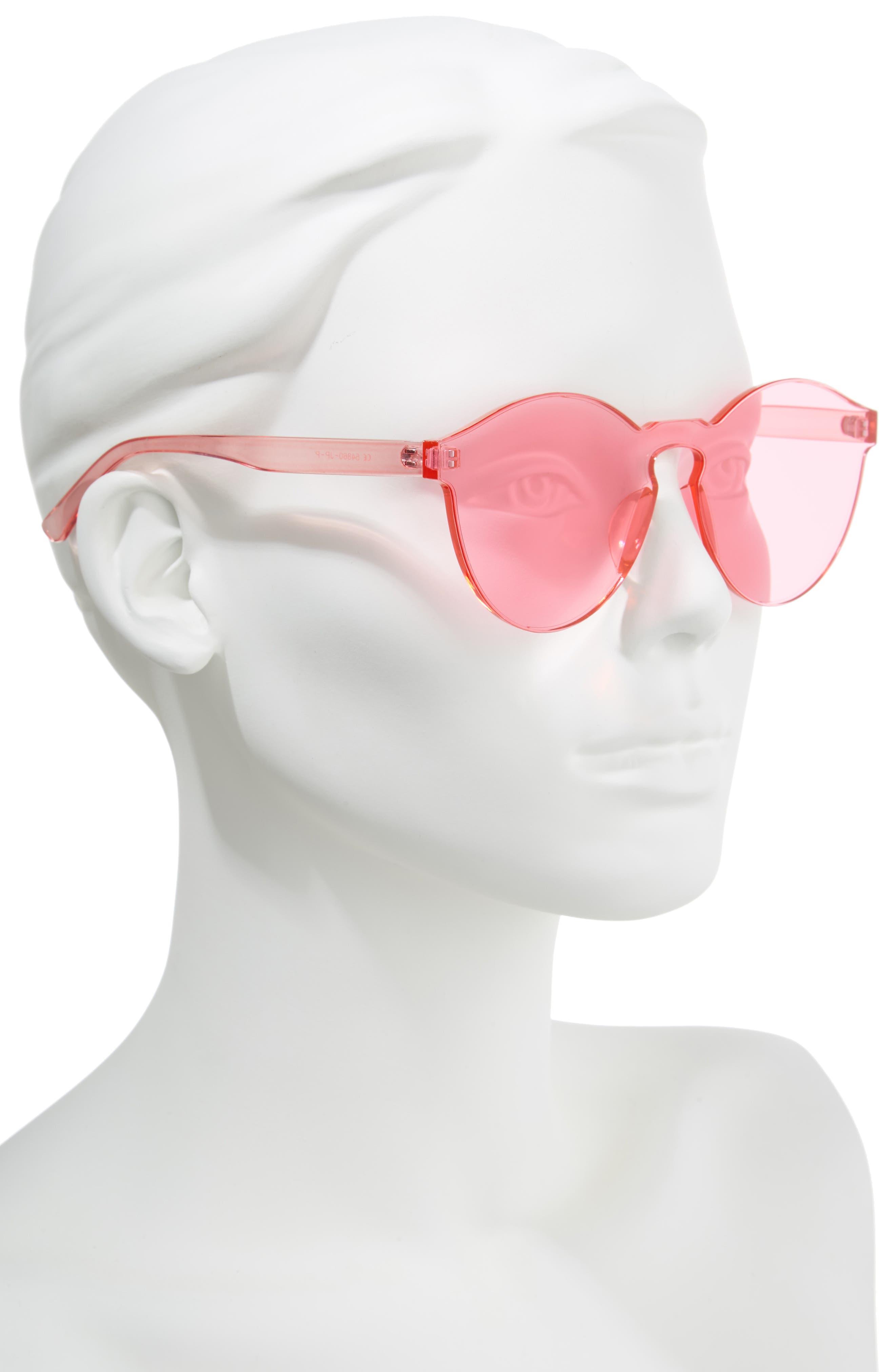 59mm Rimless Round Sunglasses,                             Alternate thumbnail 2, color,                             650