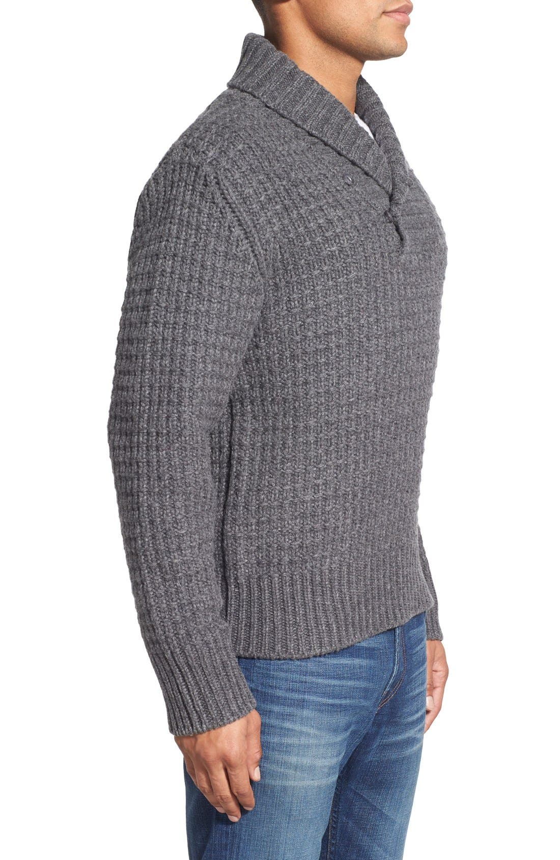 Shawl Collar Knit Pullover,                             Alternate thumbnail 8, color,
